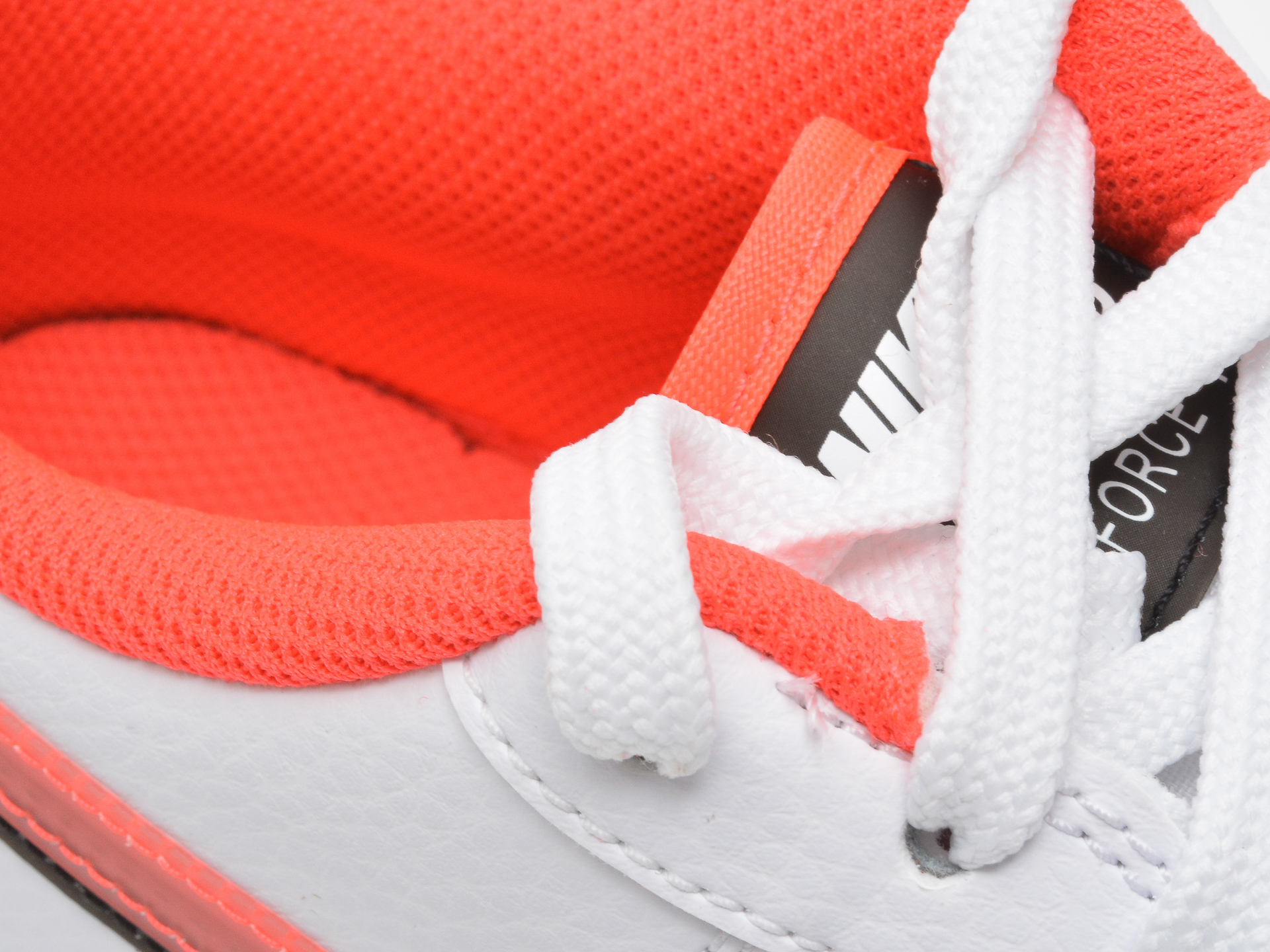 Pantofi sport NIKE albi, AIR FORCE 1 LV8 (GS), din piele naturala - 3