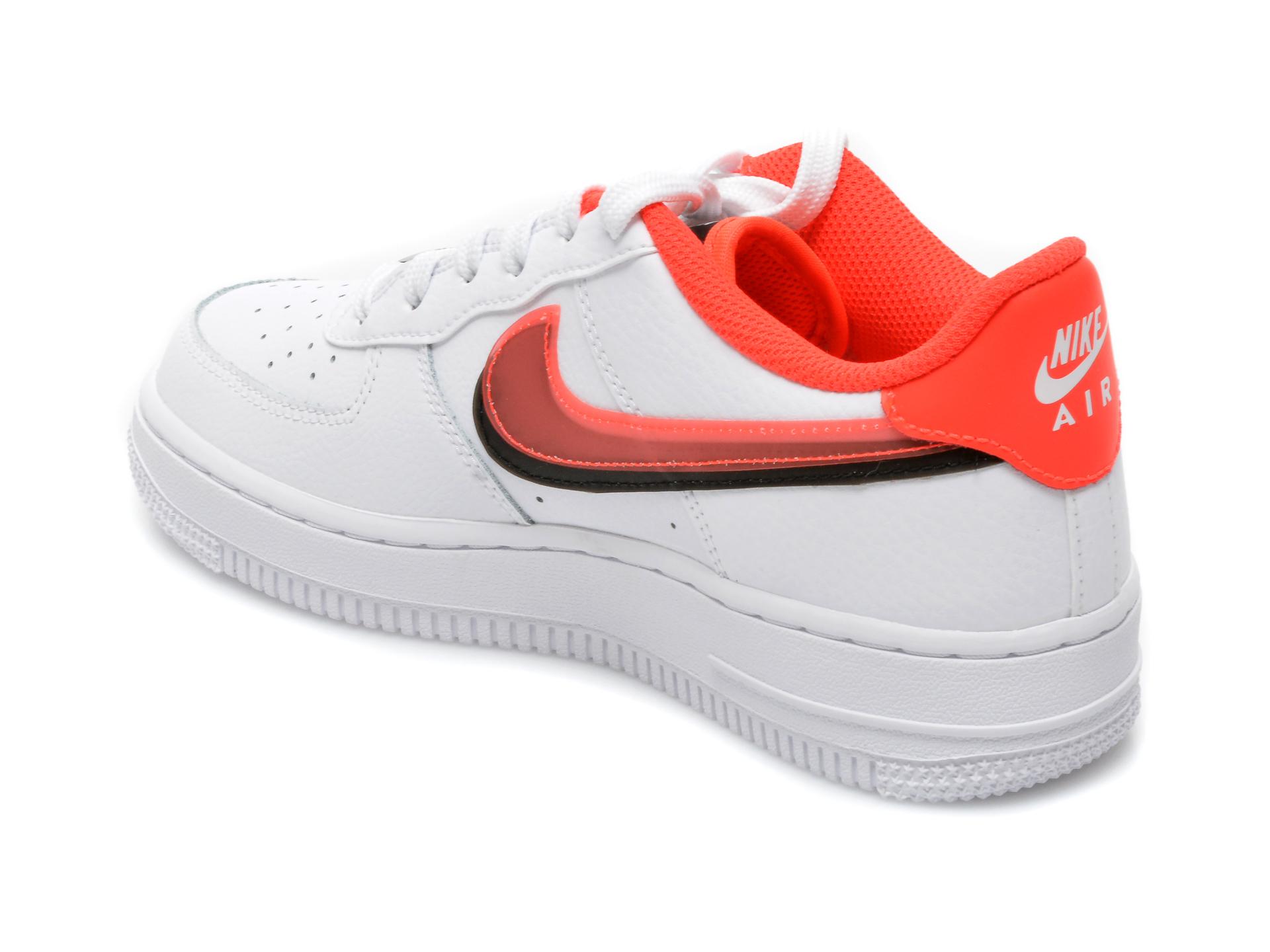 Pantofi sport NIKE albi, AIR FORCE 1 LV8 (GS), din piele naturala - 5