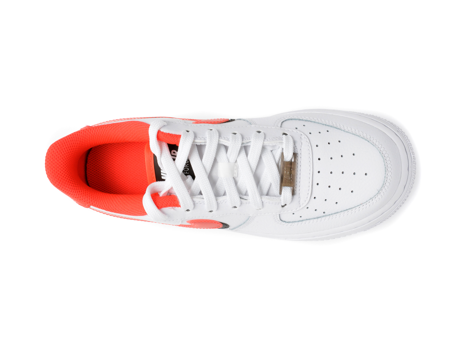 Pantofi sport NIKE albi, AIR FORCE 1 LV8 (GS), din piele naturala - 6