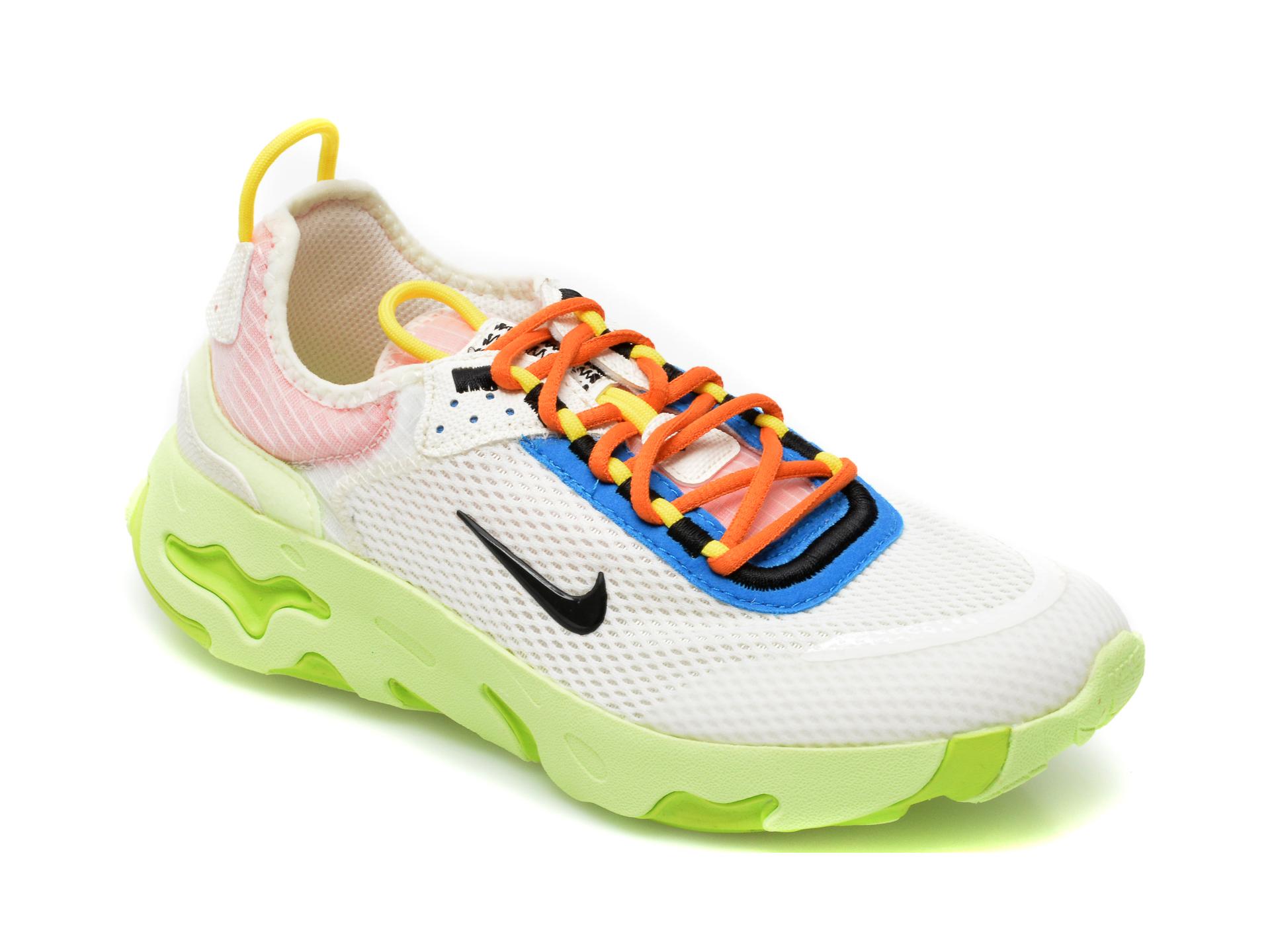 Pantofi sport NIKE albi, NIKE REACT LIVE (GS), din material textil
