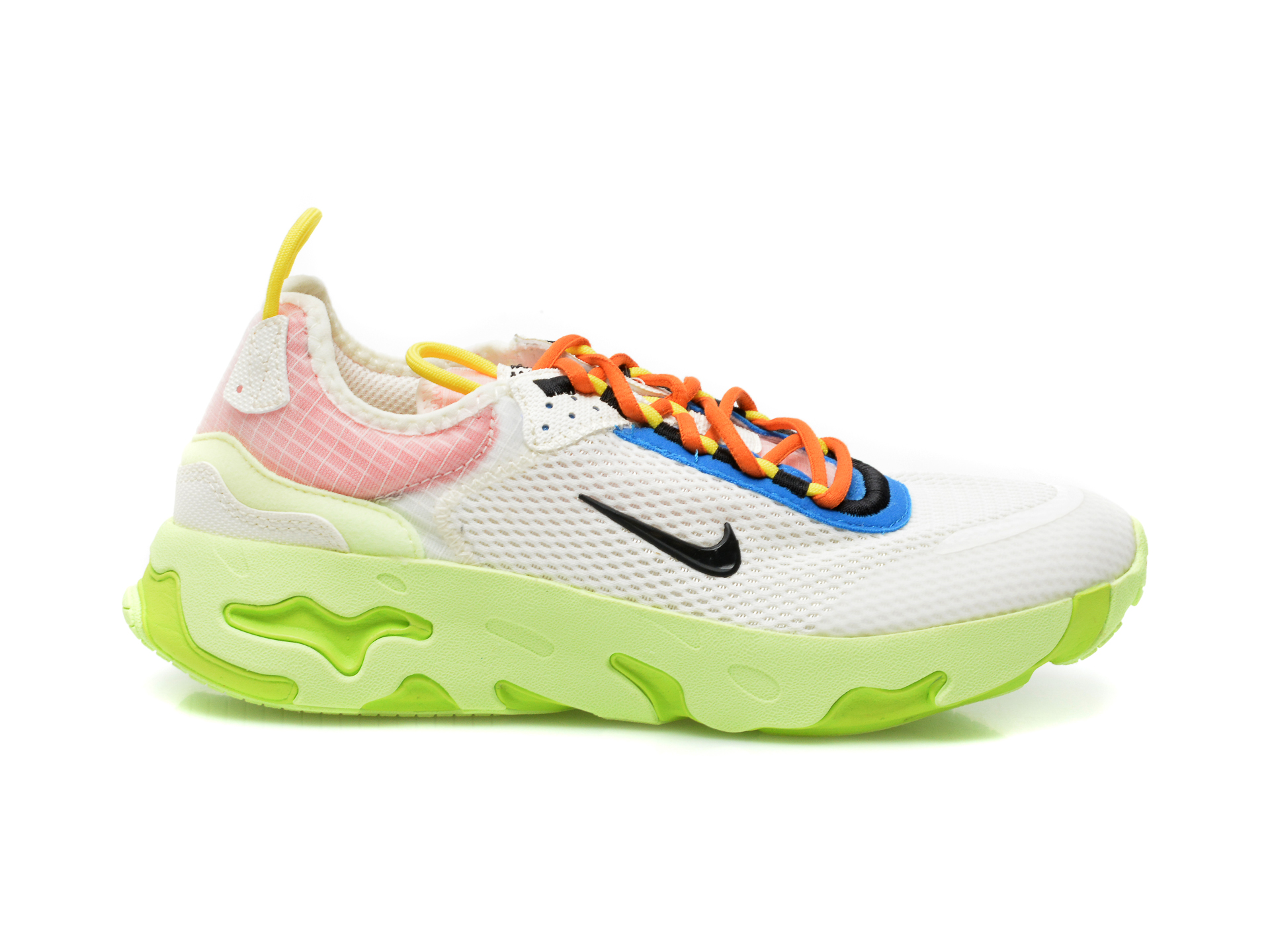 Pantofi sport NIKE albi, NIKE REACT LIVE (GS), din material textil - 1