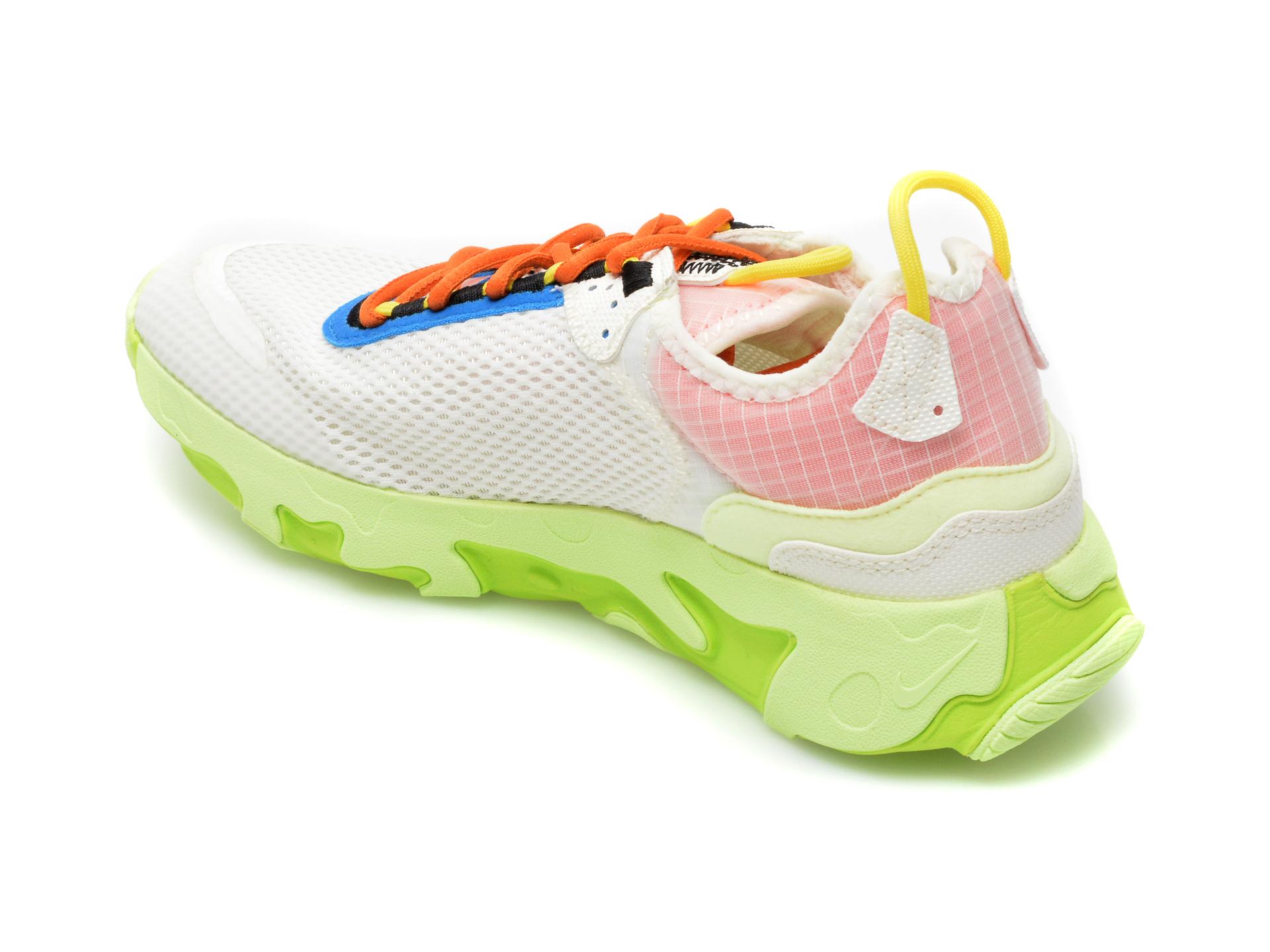 Pantofi sport NIKE albi, NIKE REACT LIVE (GS), din material textil - 5
