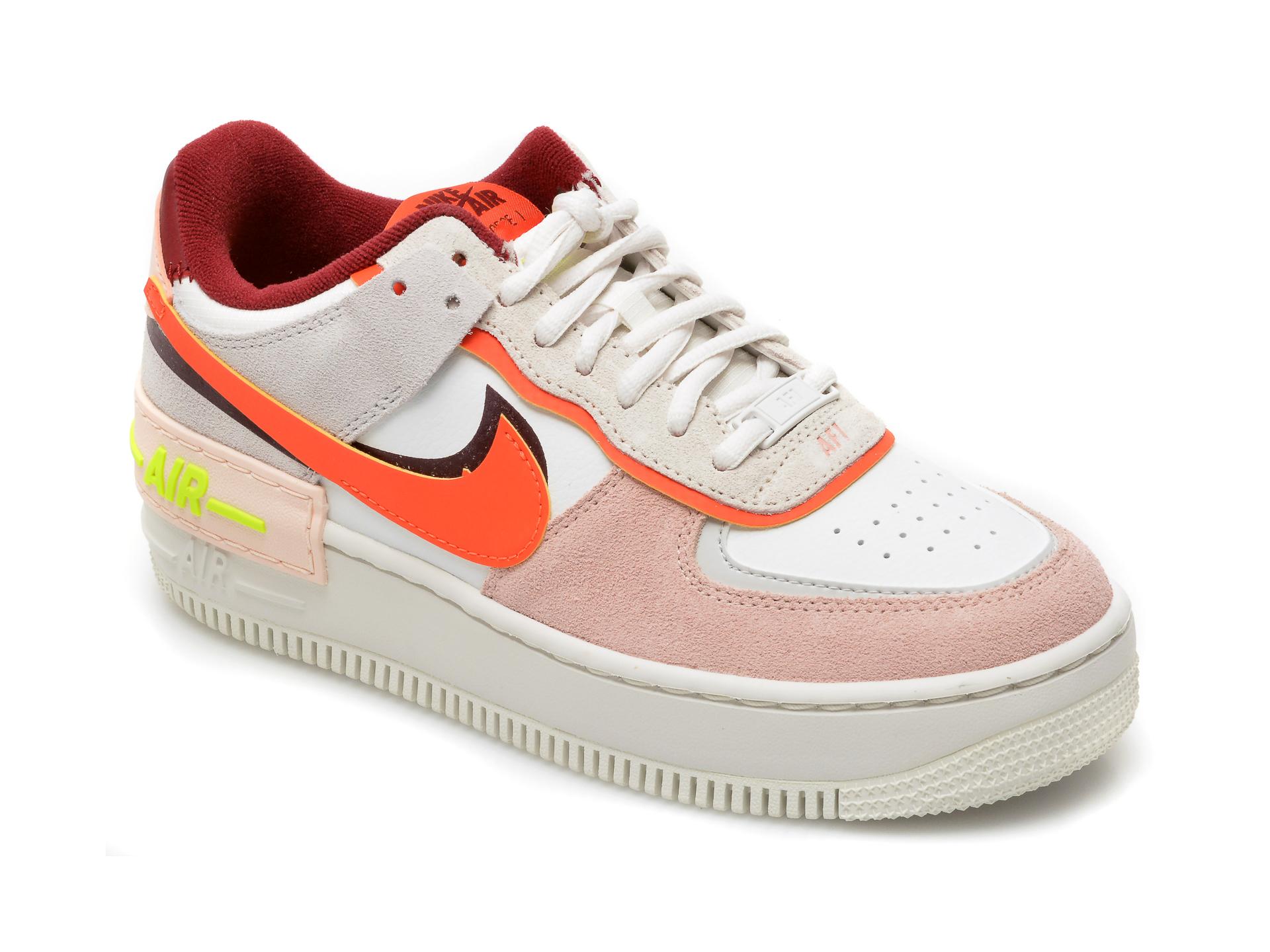 Pantofi sport NIKE albi, W Af1 Shadow, din piele naturala New