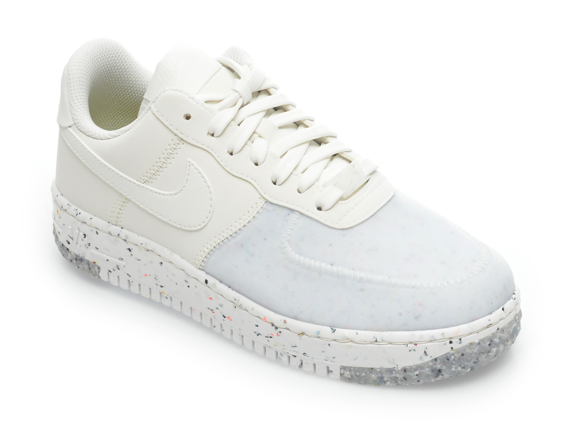 Pantofi sport NIKE albi, CT1986, din material textil si piele ecologica