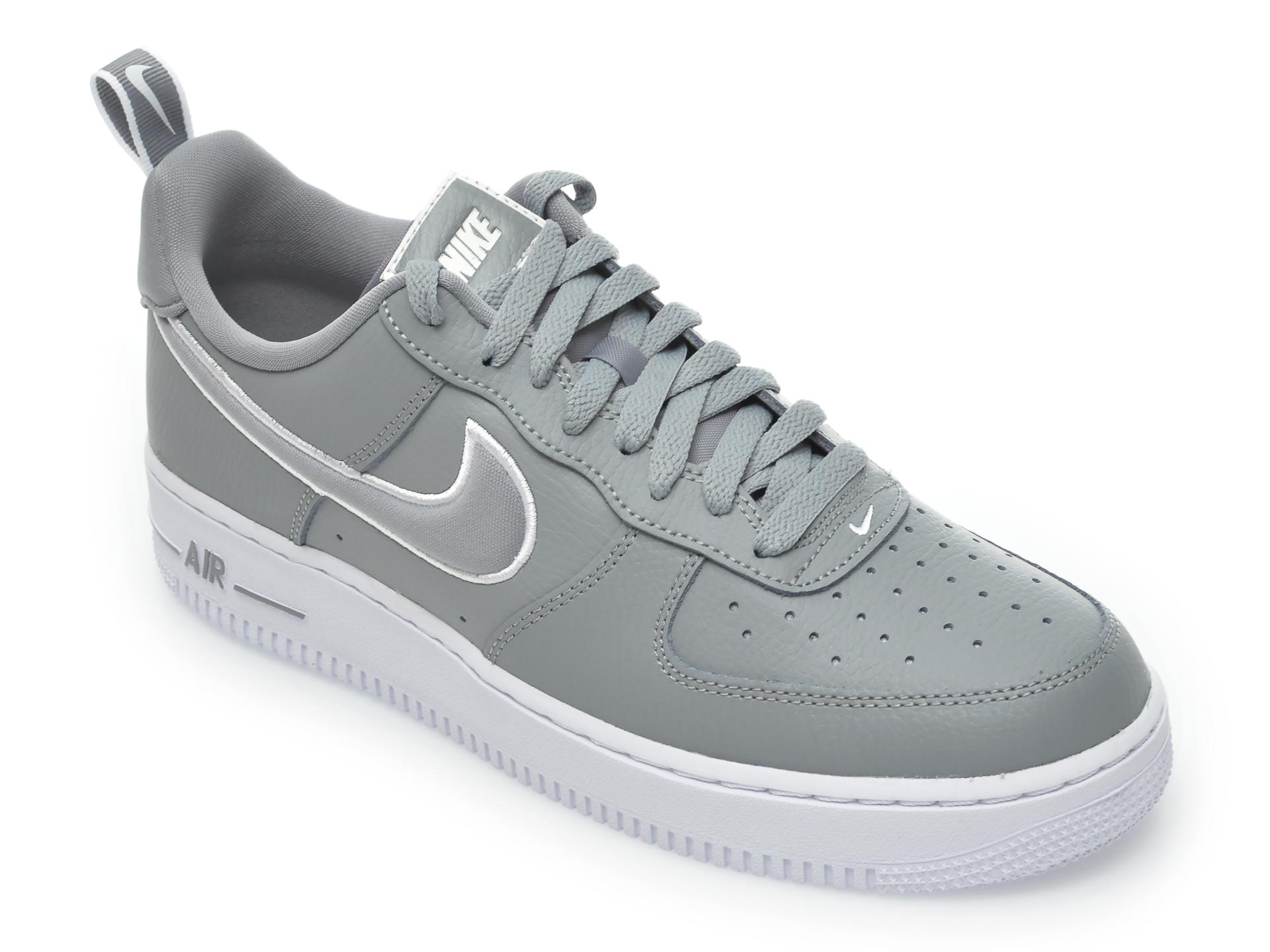 Pantofi sport NIKE gri, Nike Air Force 1, din piele naturala imagine