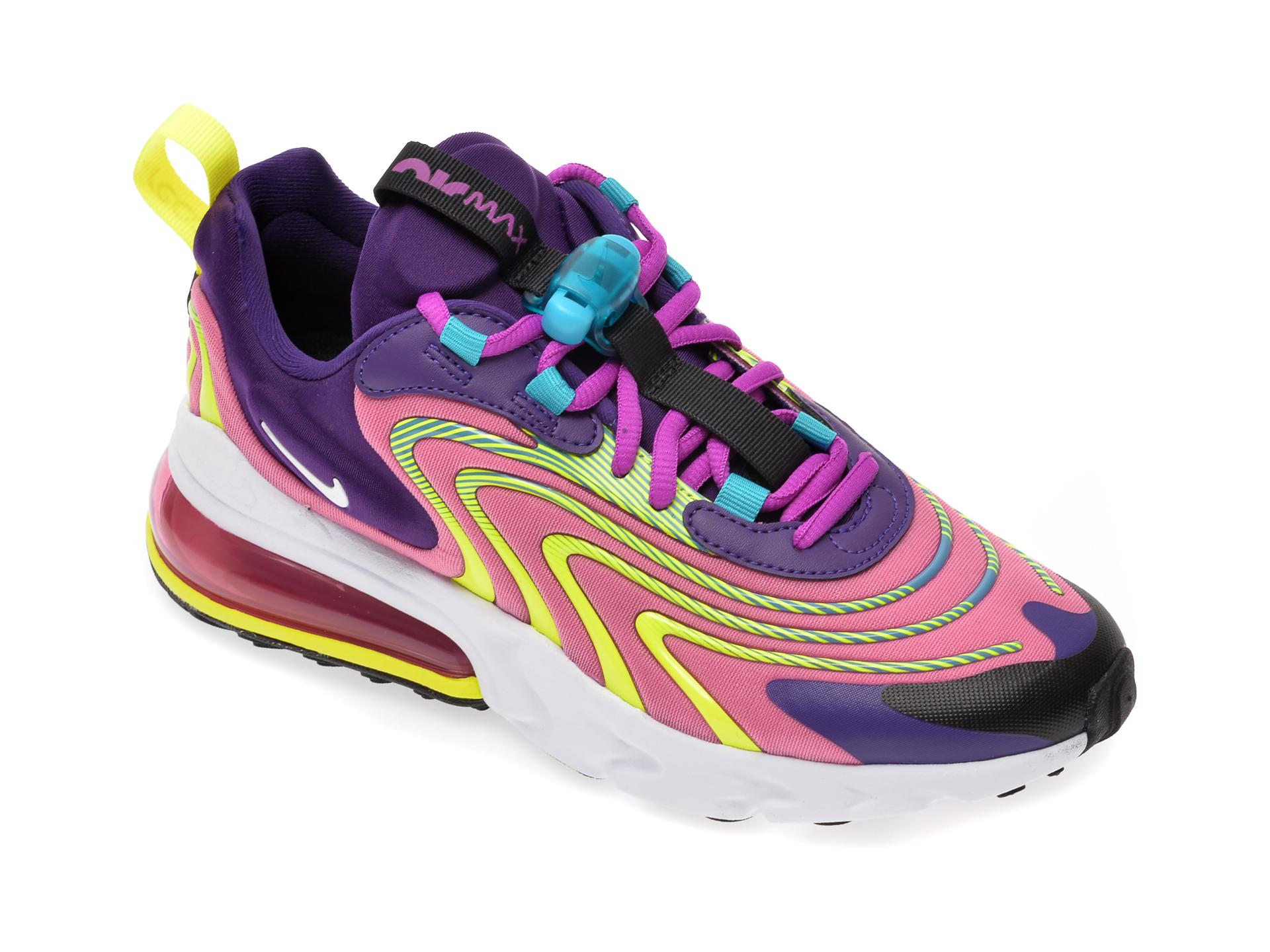 Pantofi sport NIKE multicolor, Air Max 270 React Eng, din material textil