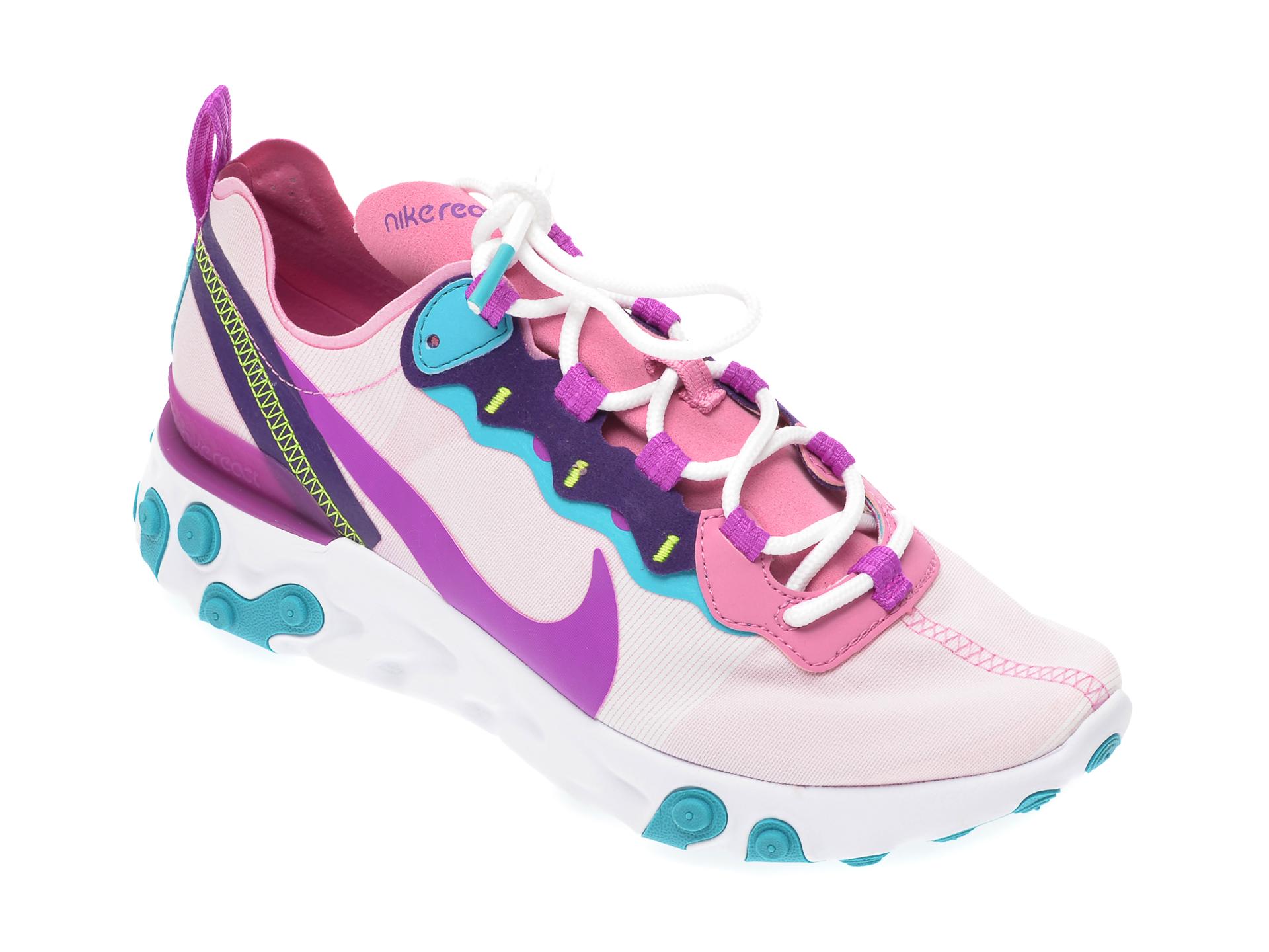 Pantofi sport NIKE multicolor, React Element 55, din material textil
