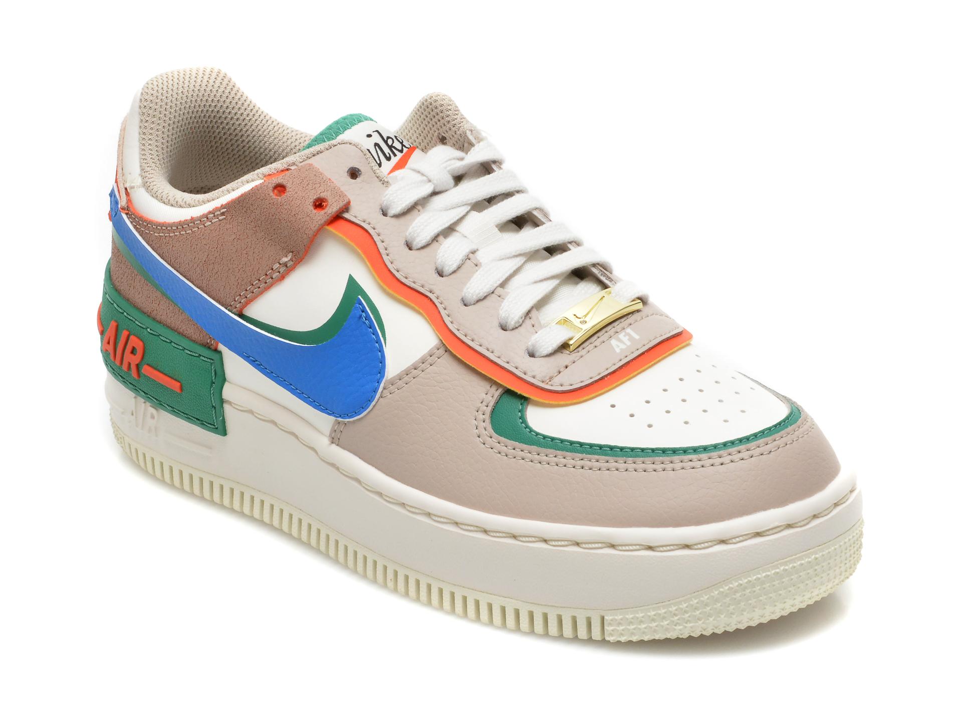 Pantofi sport NIKE multicolori, W AF1 SHADOW, din piele naturala imagine 2021 Nike