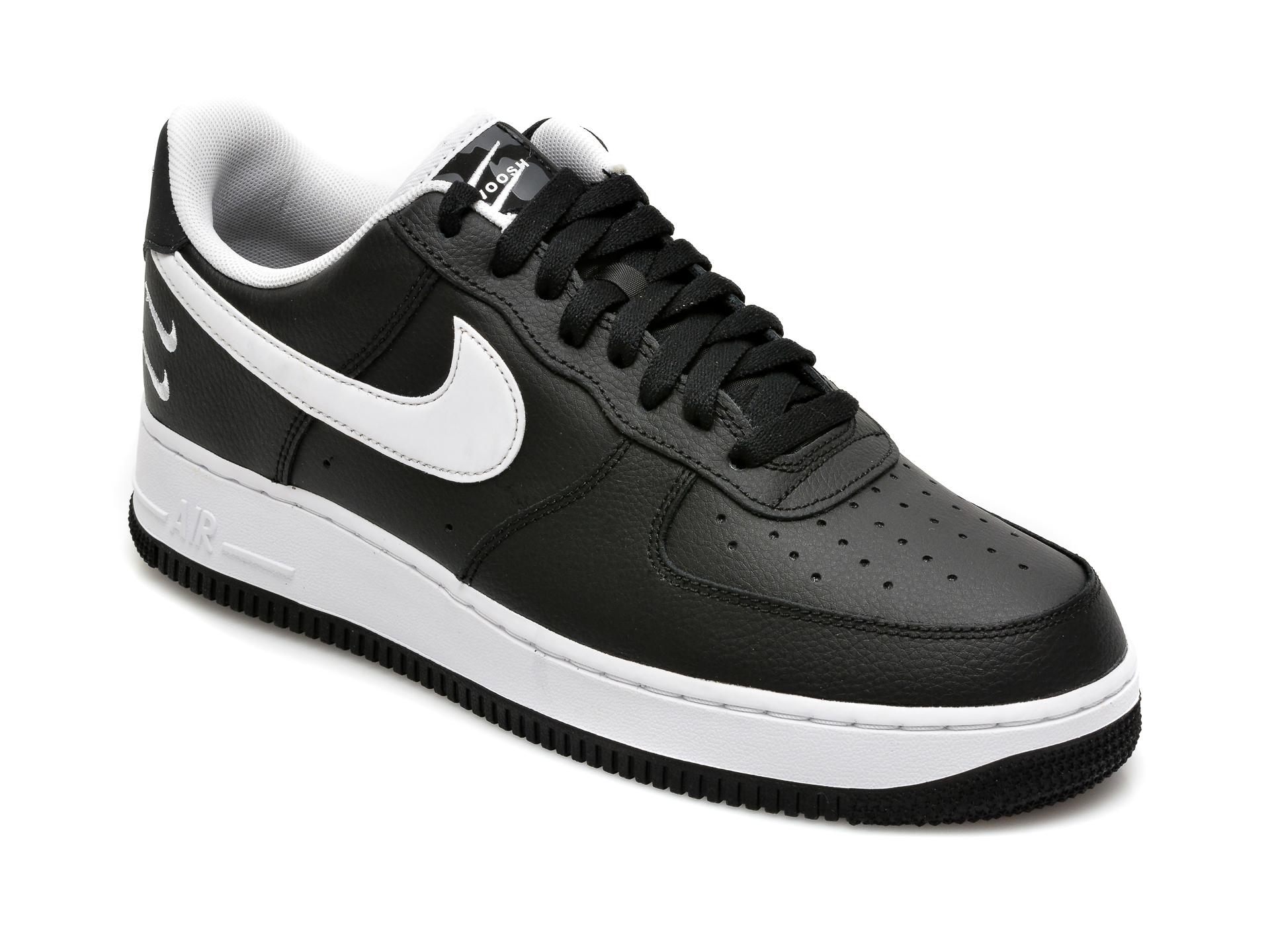 Pantofi sport NIKE negri, Air Force 1 07, din piele naturala imagine