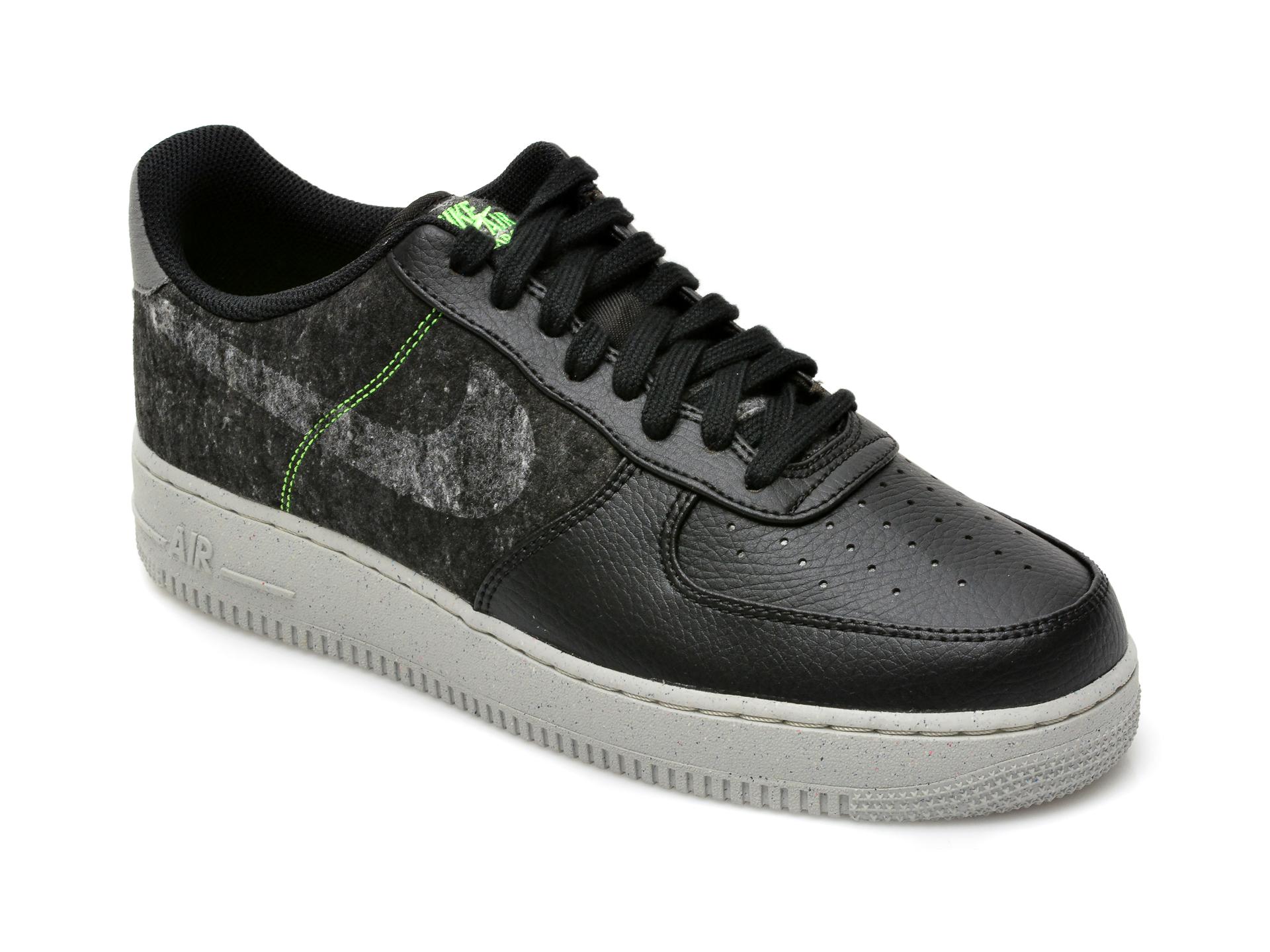 Pantofi sport NIKE negri, Air Force 1 07 Lv8, din piele ecologica imagine
