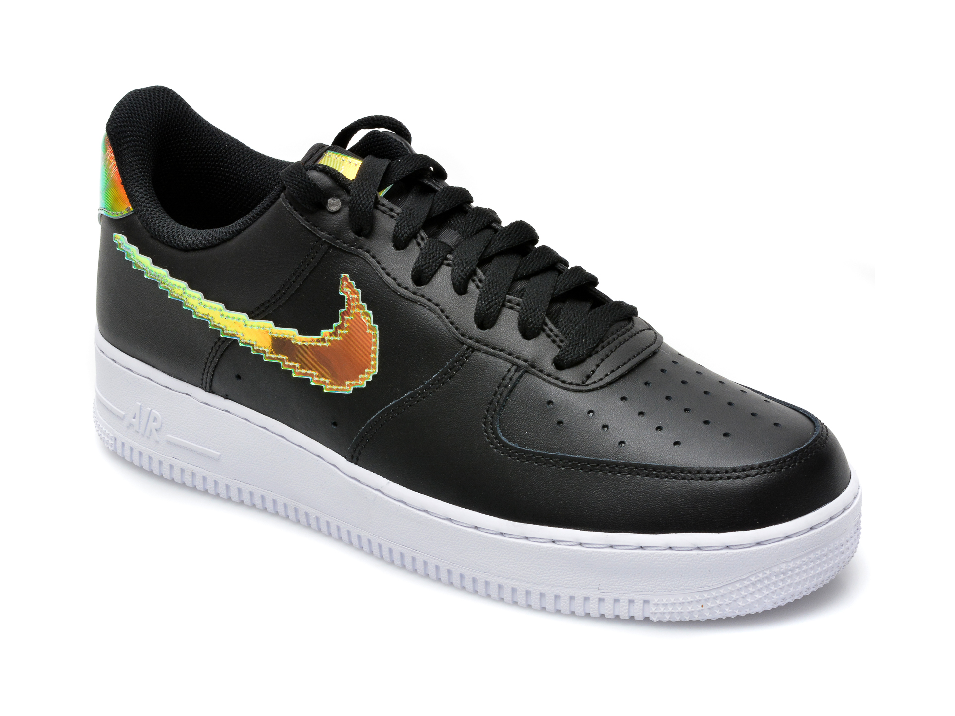 Pantofi sport NIKE negri, Air Force 1 07 Lv8, din piele naturala