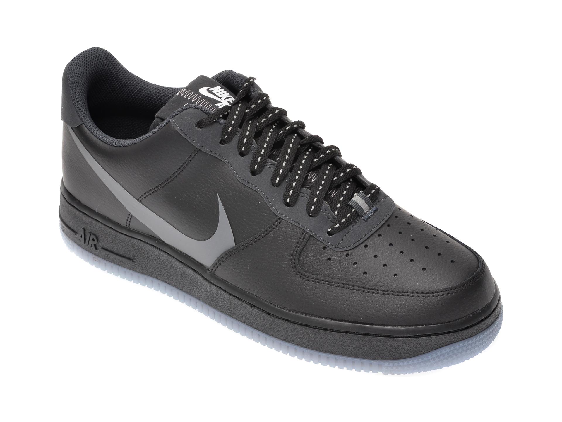 Pantofi Sport Nike Negri, Air Force 1 7 Lv8, Din Piele Ecologica