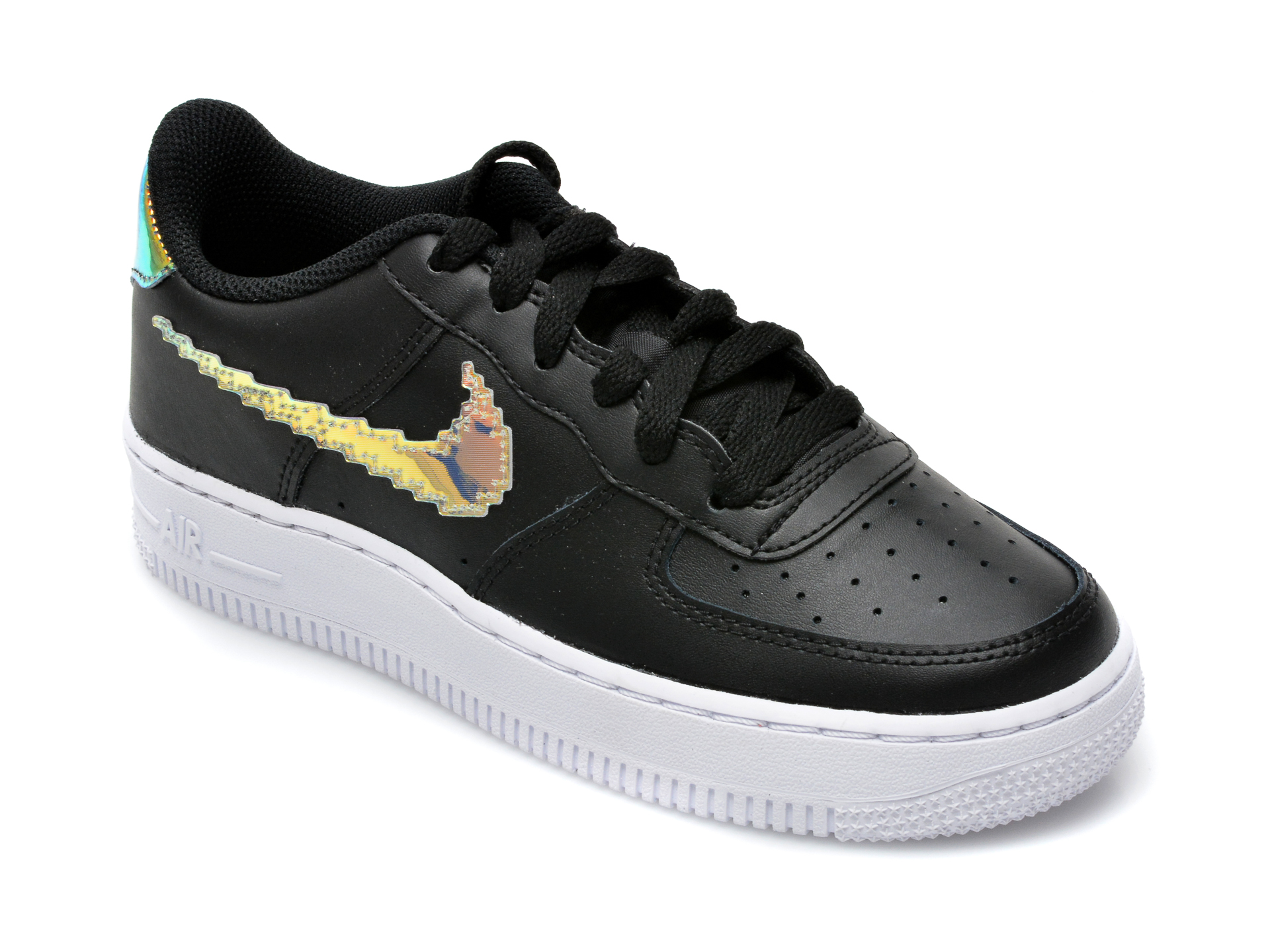 Pantofi sport NIKE negri, AIR FORCE 1 LV8 (GS), din piele naturala
