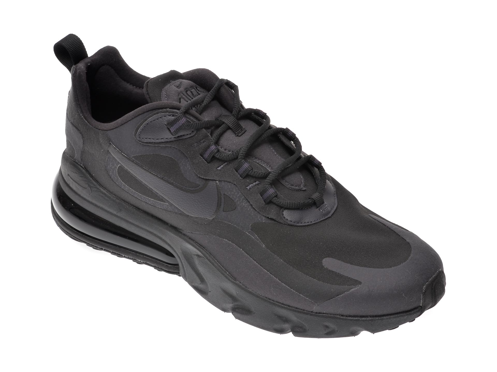 Pantofi sport NIKE negri, Air Max 270 React, din material textil