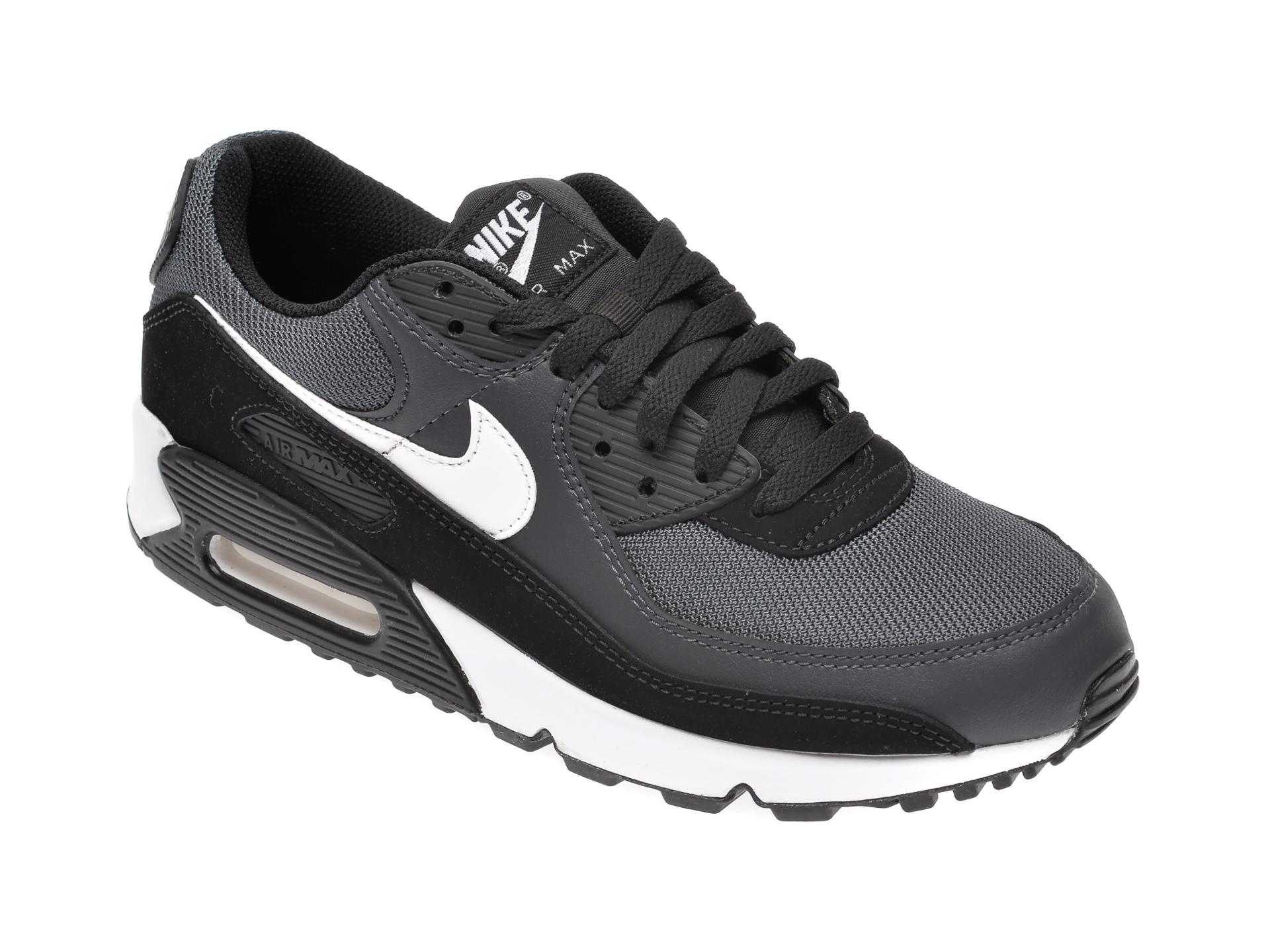 Pantofi sport NIKE negri, Air Max 90, din material textil si piele intoarsa imagine