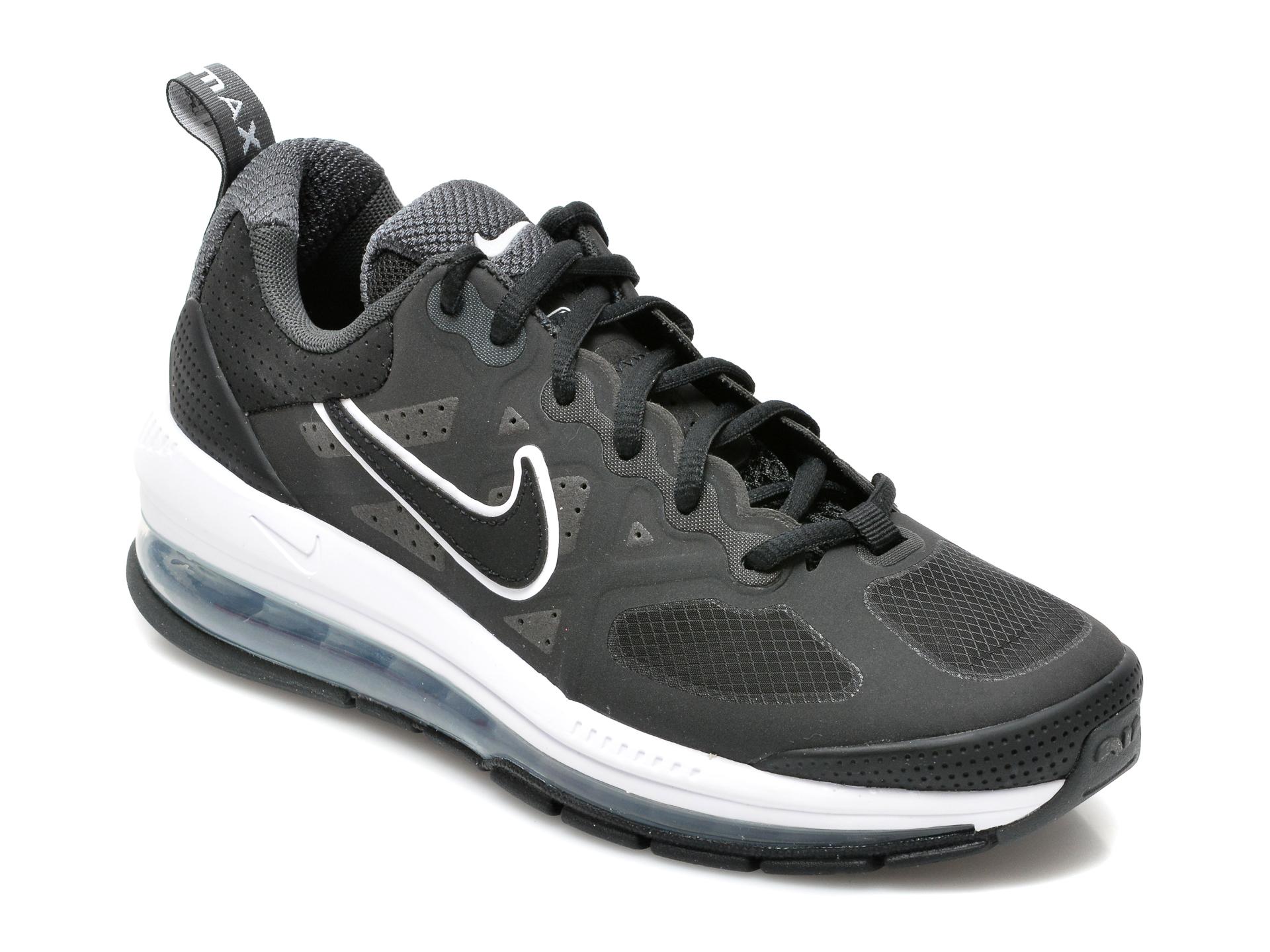 Pantofi sport NIKE negri, CZ1645, din material textil si piele ecologica