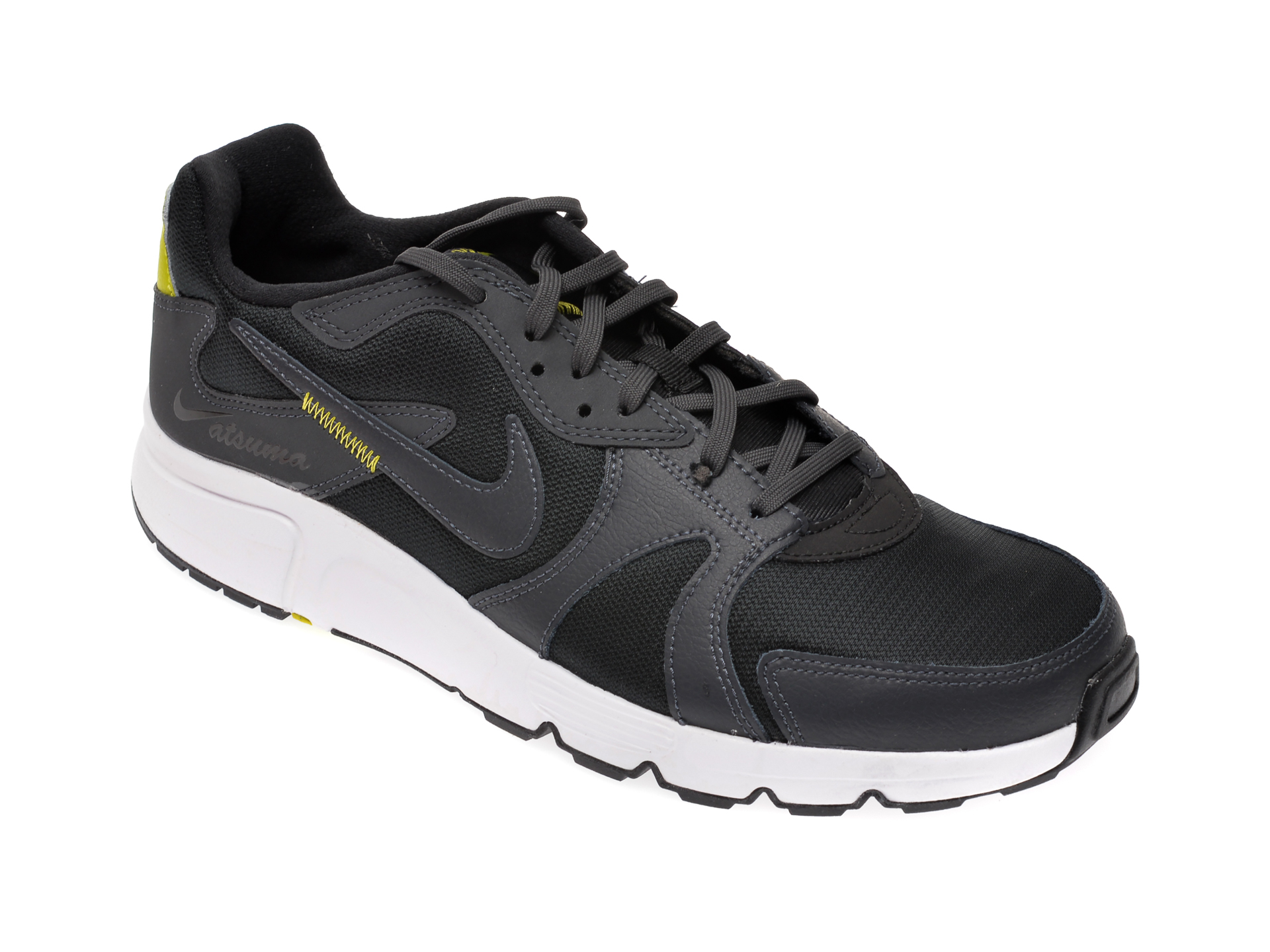 Pantofi sport NIKE negri, Atsuma, din material textil si piele naturala