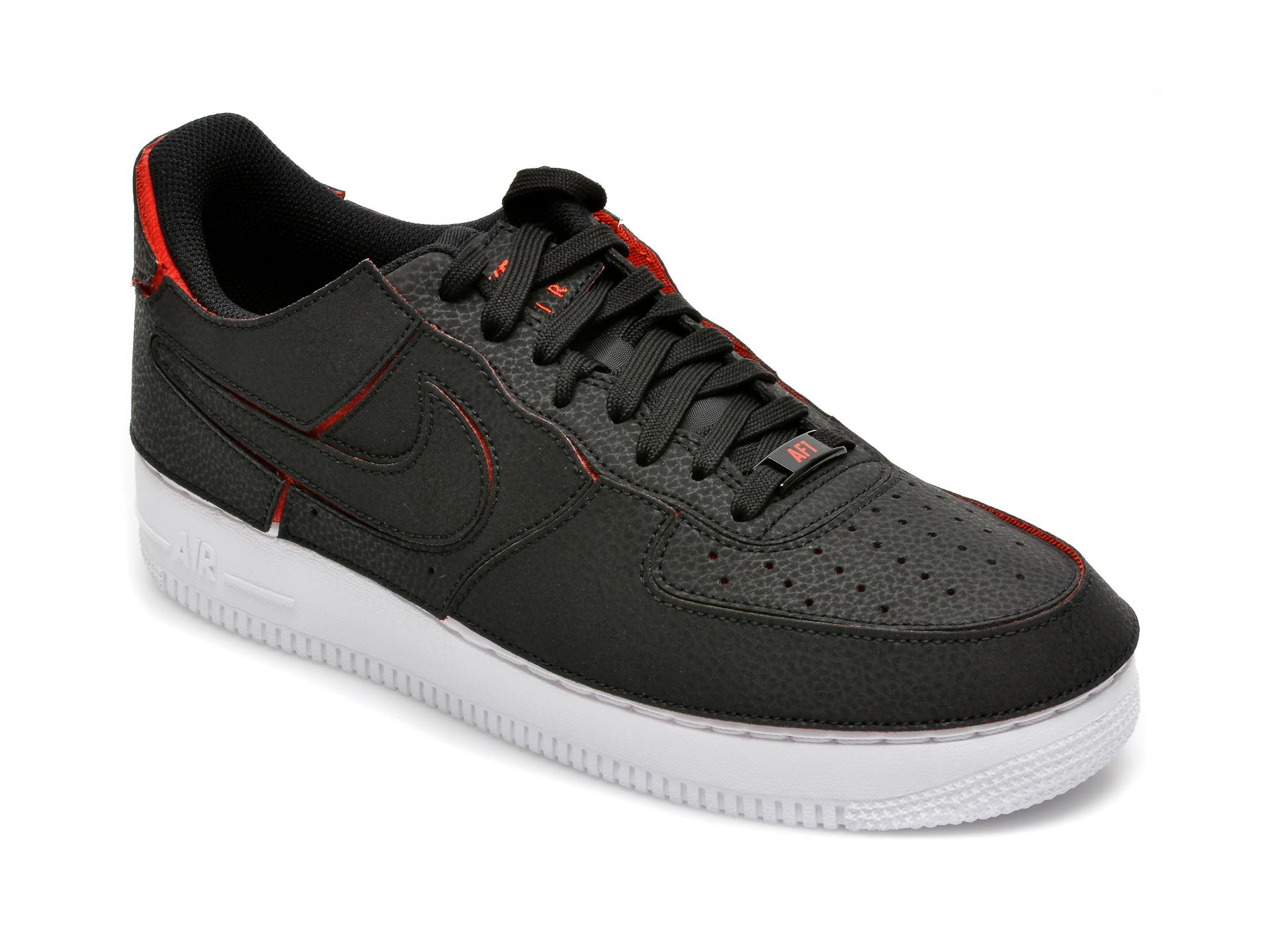 Pantofi sport NIKE negri, Nike Af1/1, din piele ecologica imagine