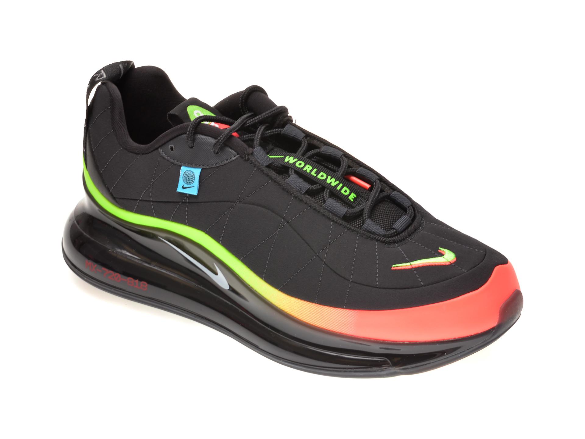 Pantofi sport NIKE negri, NIKE MX-720-818 WW, din material textil