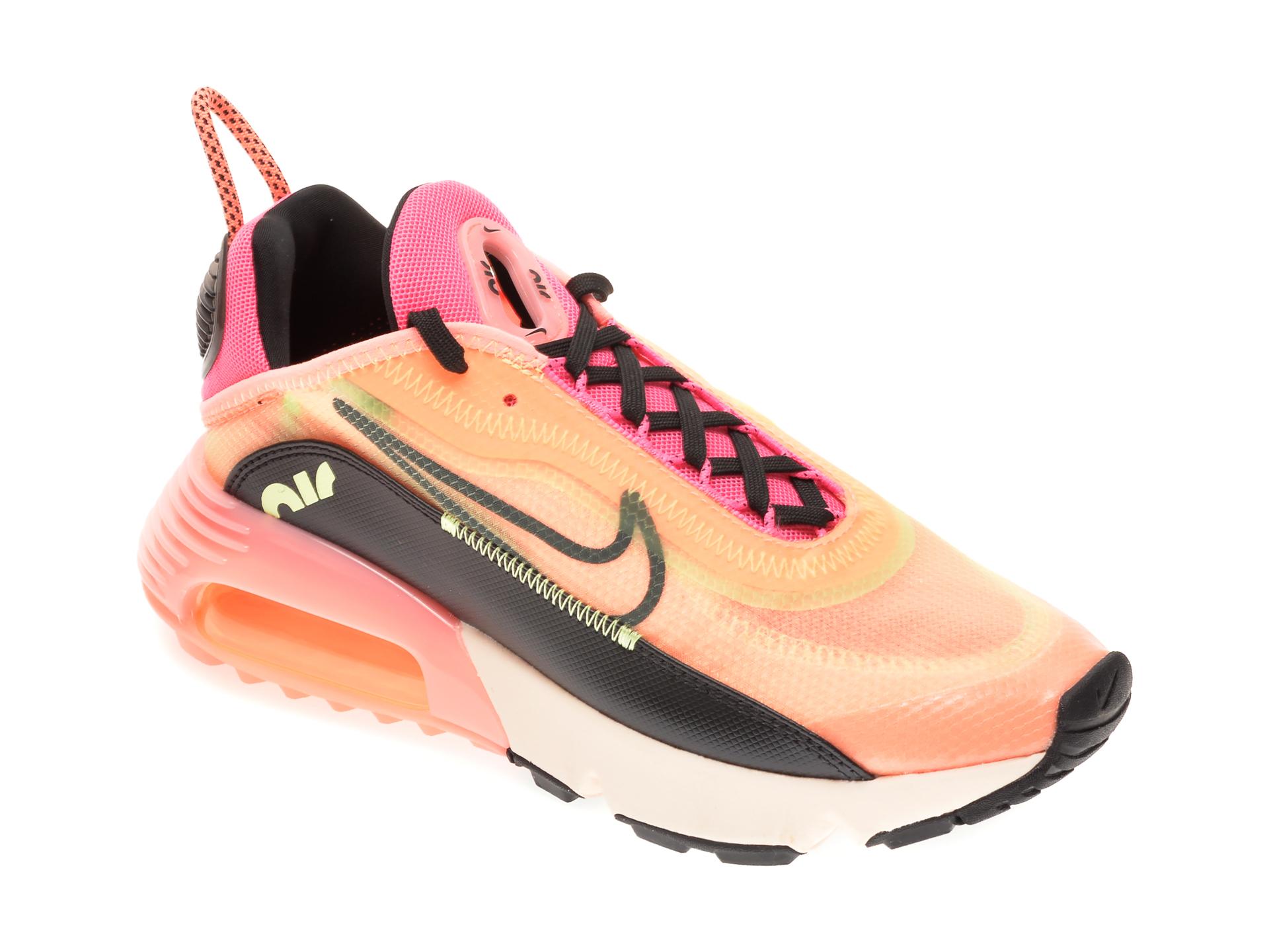 Pantofi sport NIKE portocalii, W AIR MAX 2090, din material textil imagine