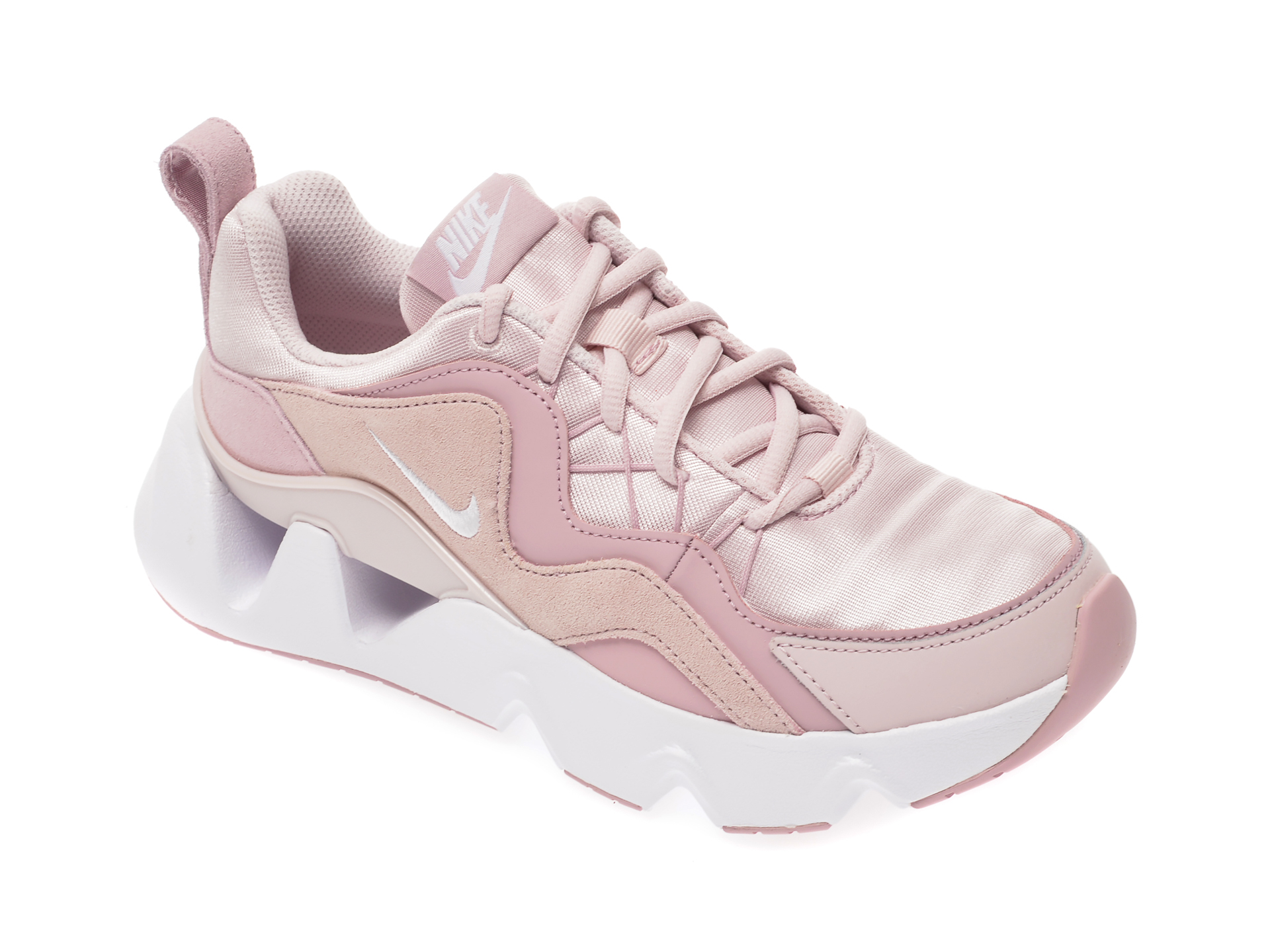 Pantofi sport NIKE roz, Uptear, din material textil si piele intoarsa