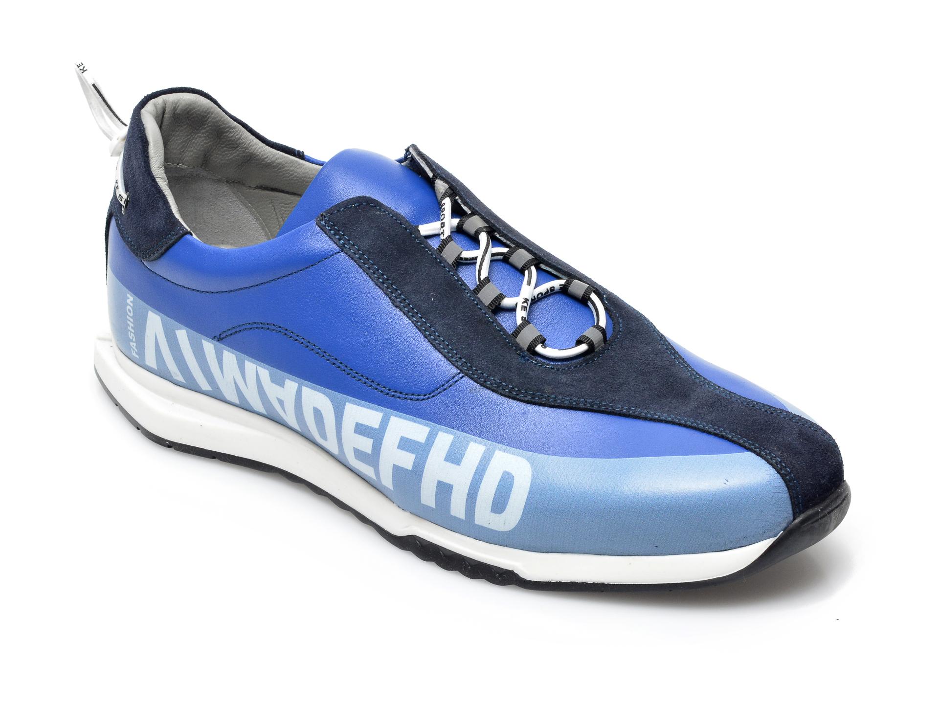 Pantofi sport OTTER albastri, 26703, din piele naturala imagine