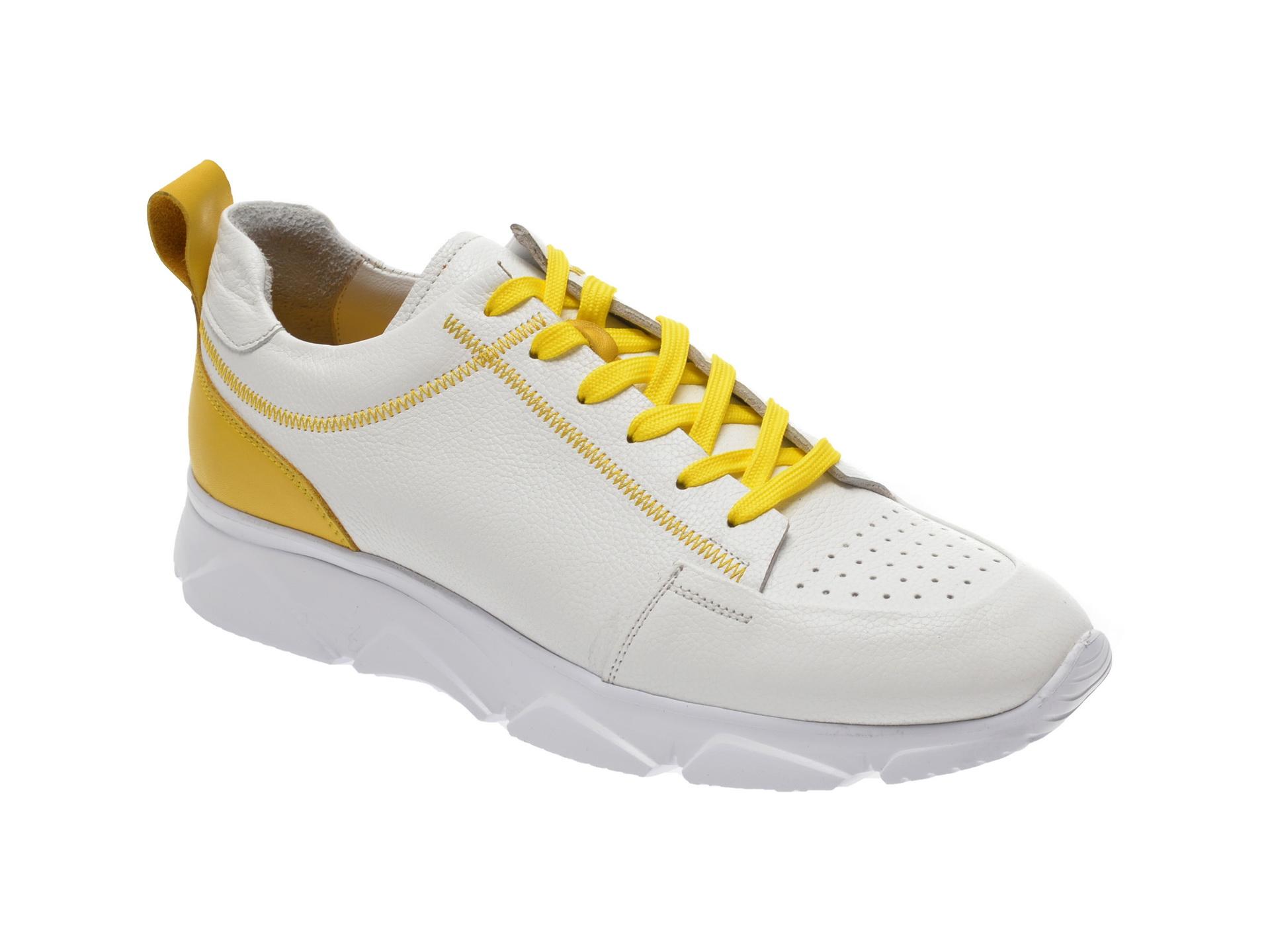Pantofi sport OTTER albi, 137, din piele naturala imagine