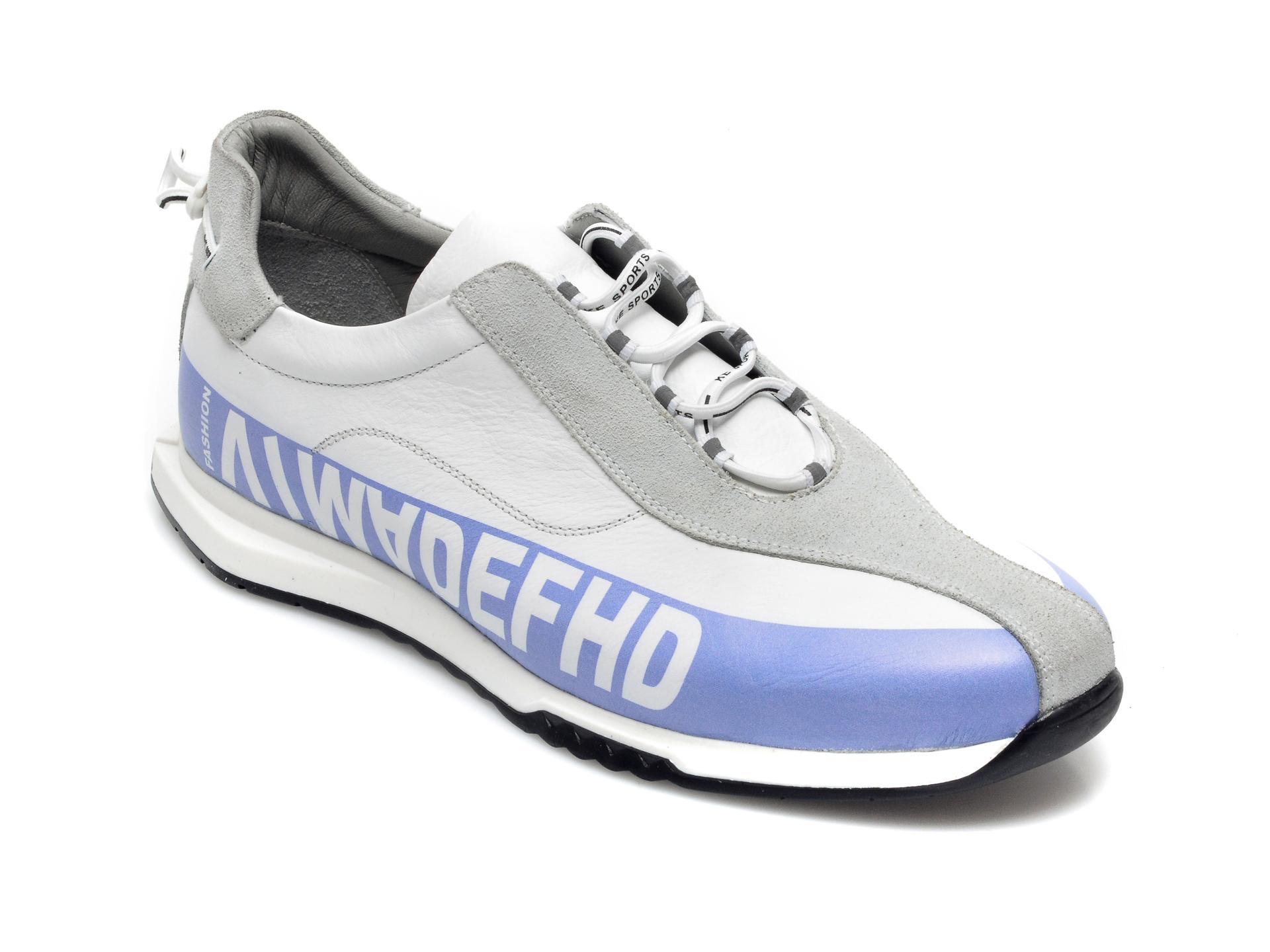 Pantofi sport OTTER albi, 26703, din piele naturala imagine