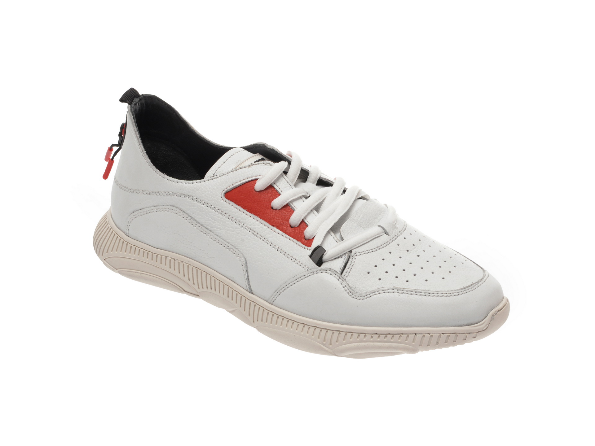 Pantofi sport OTTER albi, 37101, din piele naturala imagine