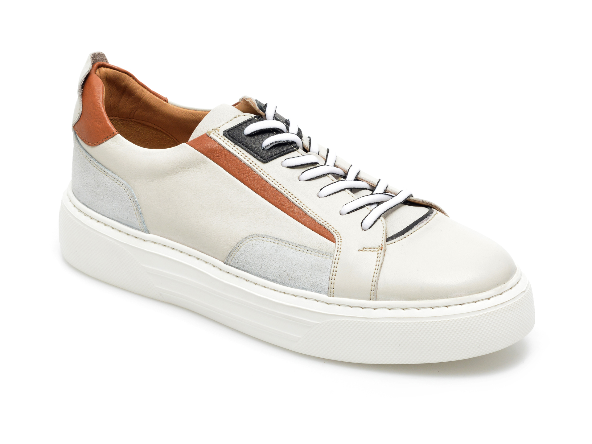 Pantofi sport OTTER bej, 19104, din piele naturala imagine otter.ro 2021