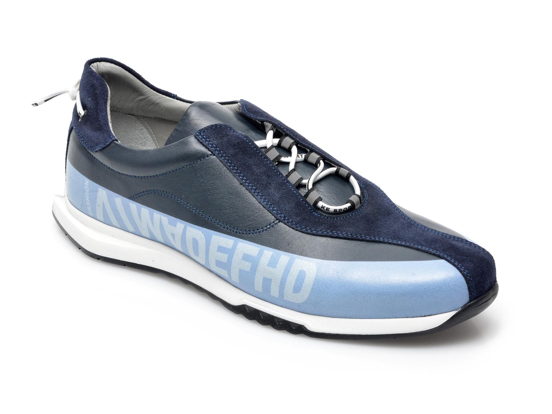Pantofi sport OTTER bleumarin, 26703, din piele naturala imagine