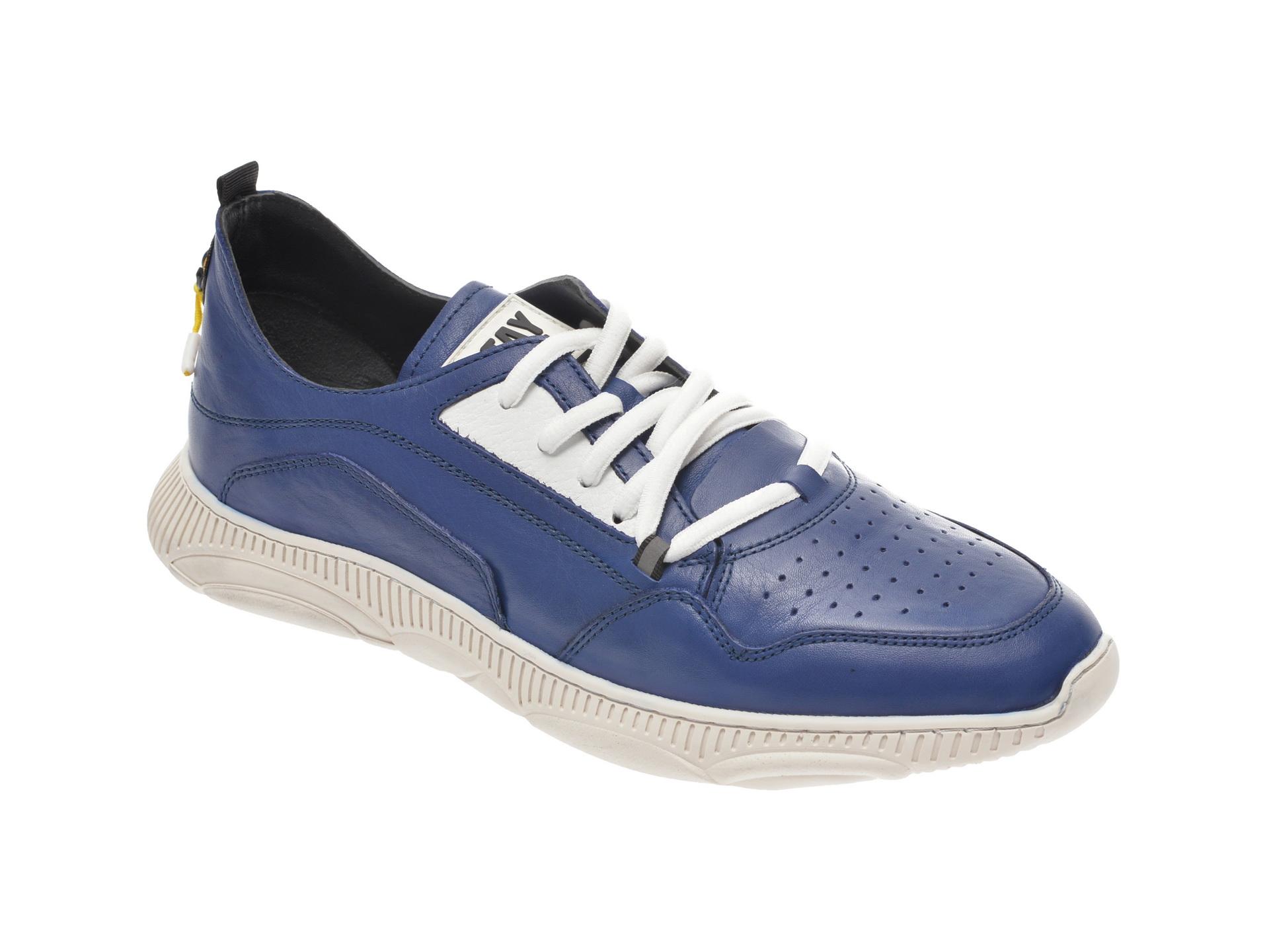 Pantofi sport OTTER bleumarin, 37101, din piele naturala imagine