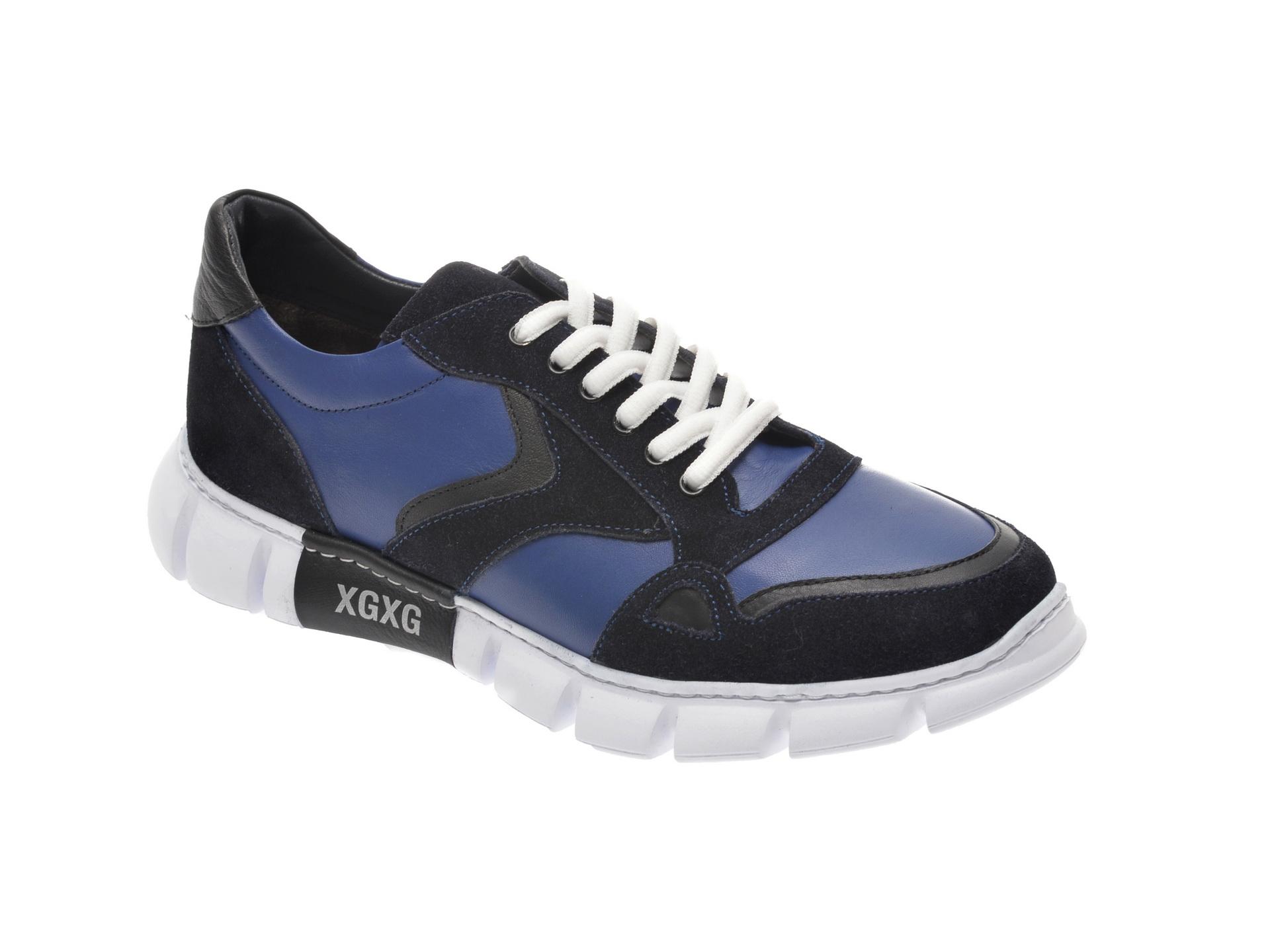 Pantofi sport OTTER bleumarin, 40102, din piele naturala imagine