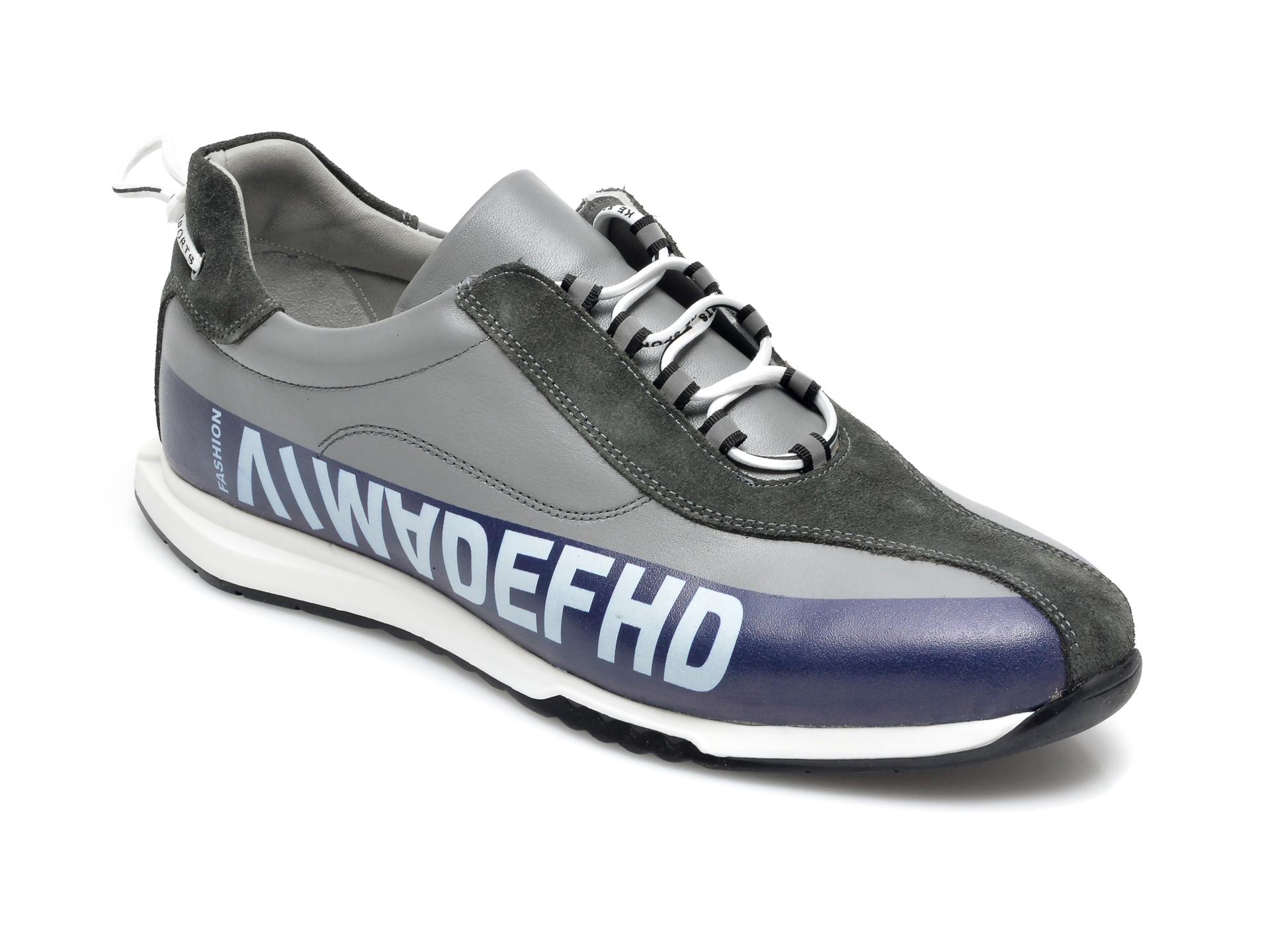 Pantofi sport OTTER gri, 26703, din piele naturala imagine