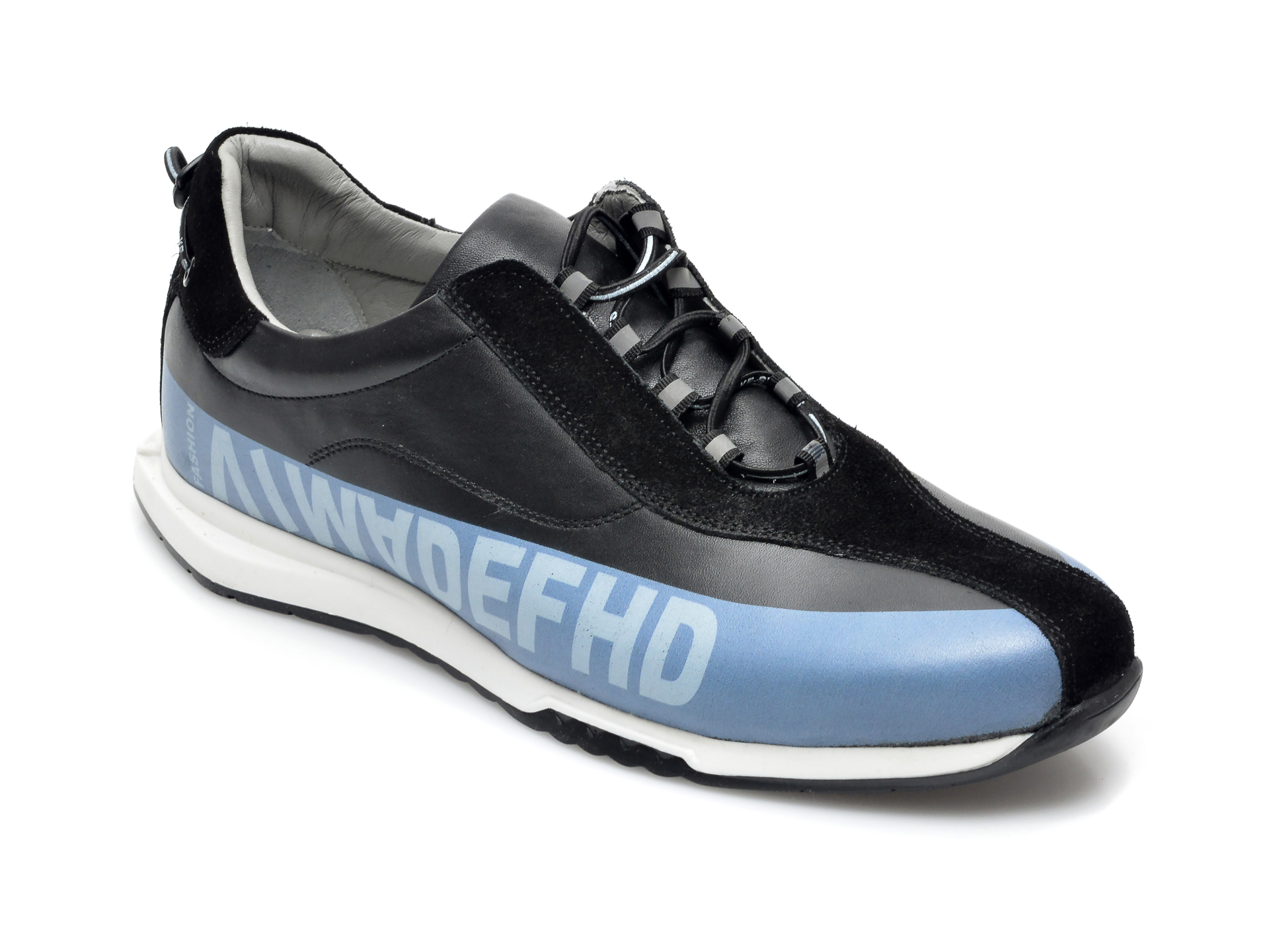 Pantofi sport OTTER negri, 26703, din piele naturala imagine