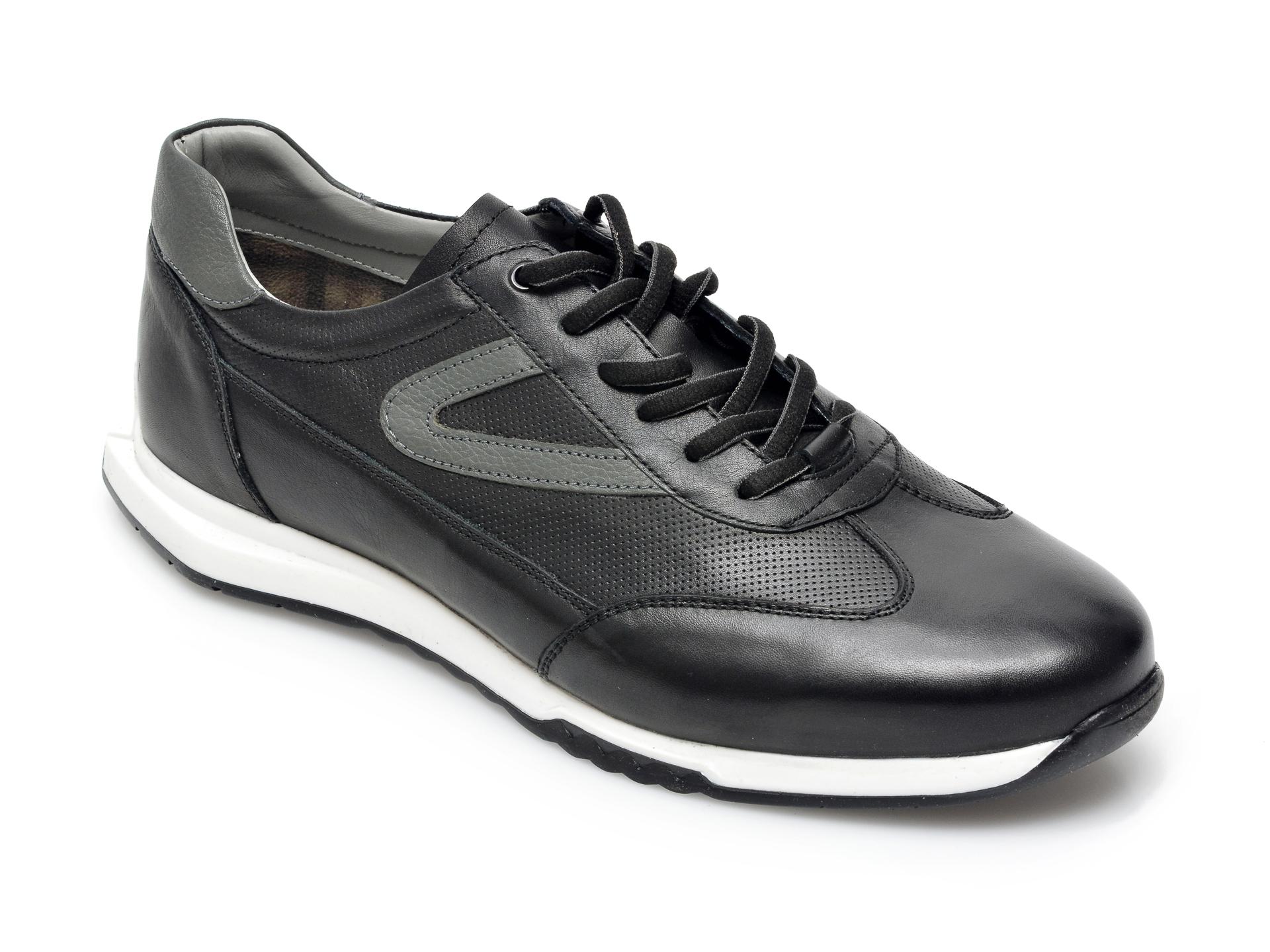 Pantofi sport OTTER negri, 26705, din piele naturala imagine