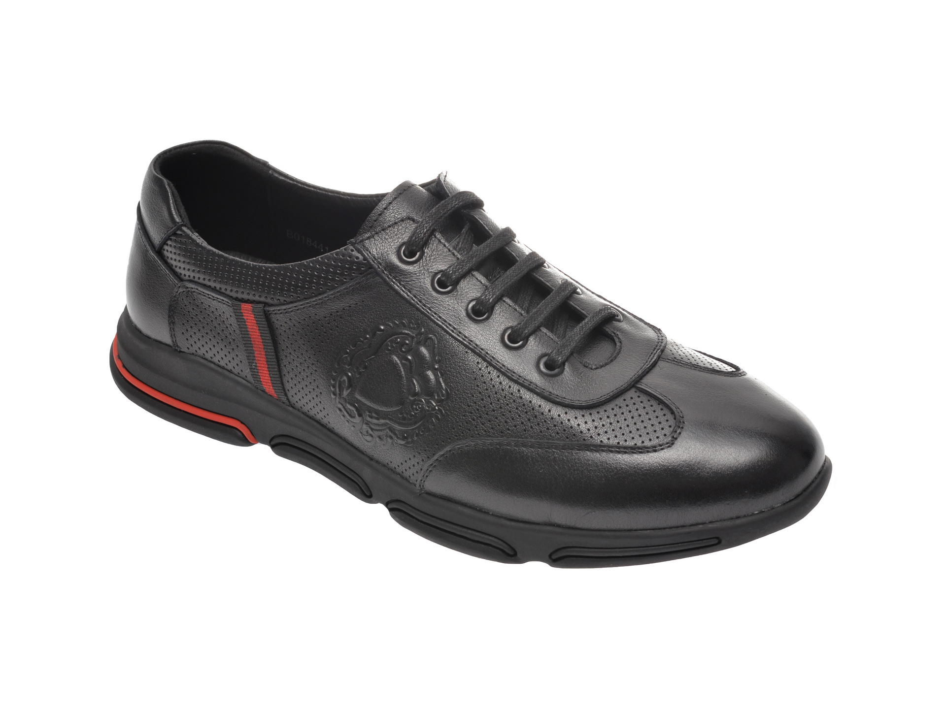 Pantofi sport OTTER negri, B018441, din piele naturala imagine