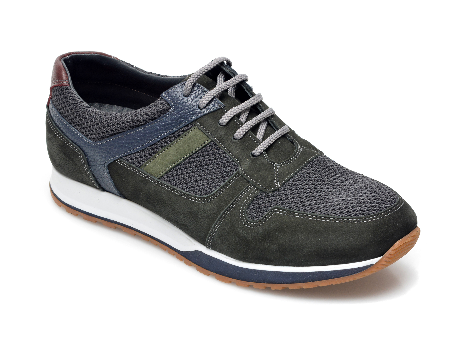 Pantofi sport OTTER verzi, 81101, din material textil si piele intoarsa imagine