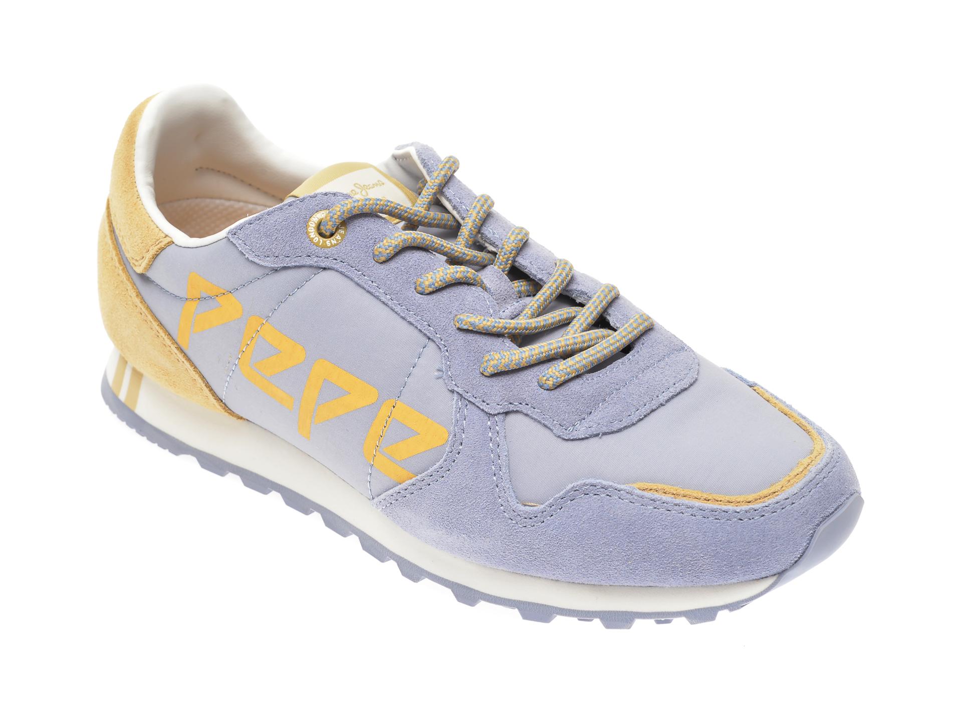 Pantofi sport PEPE JEANS albastri, LS30984, din material textil si piele intoarsa