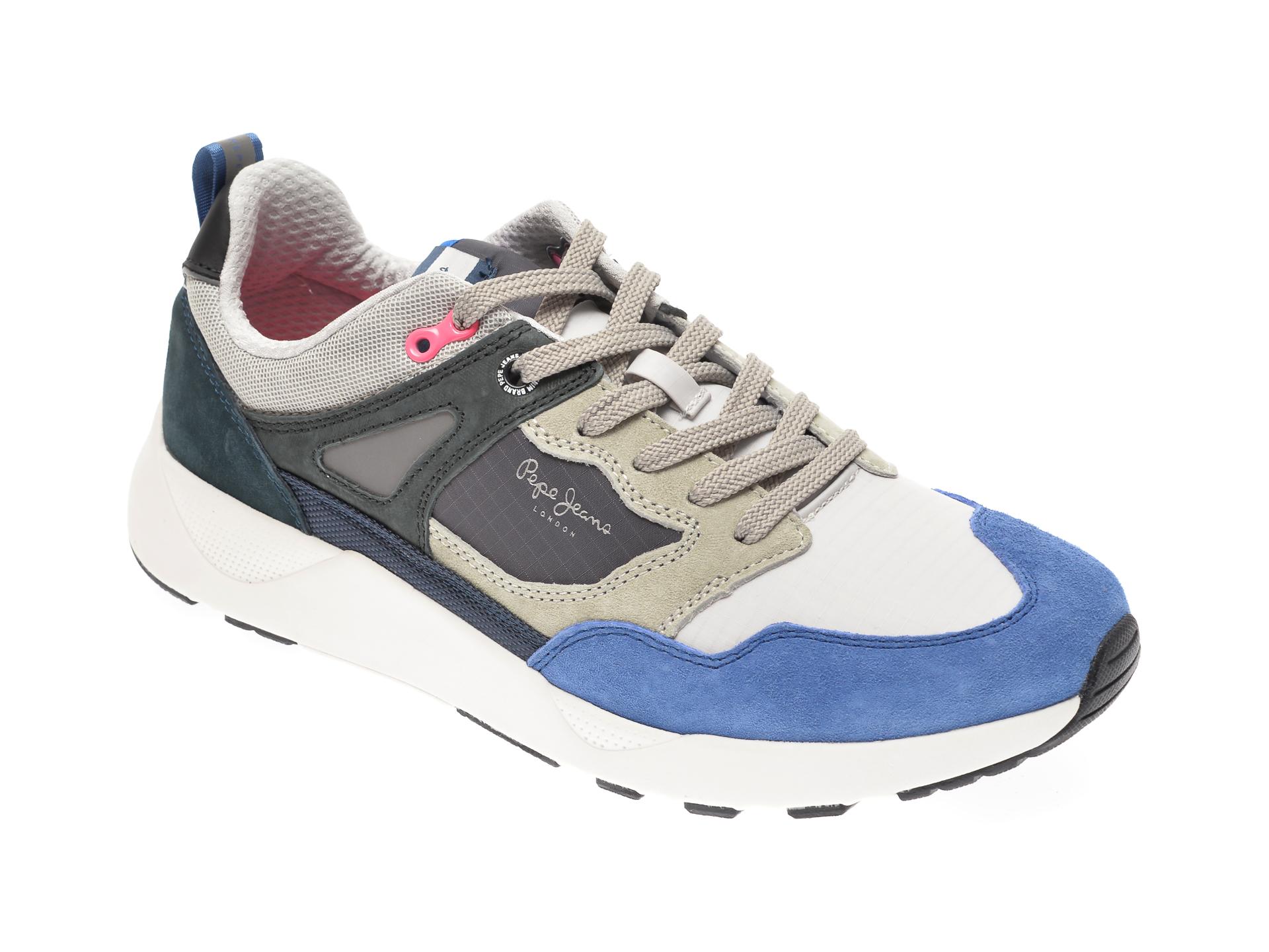 Pantofi sport PEPE JEANS albastri, MS30598, din material textil imagine