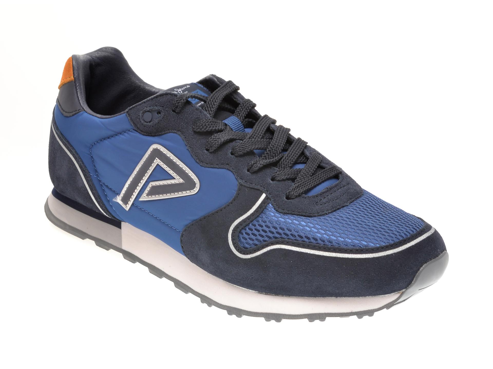 Pantofi sport PEPE JEANS albastri, MS30681, din material textil