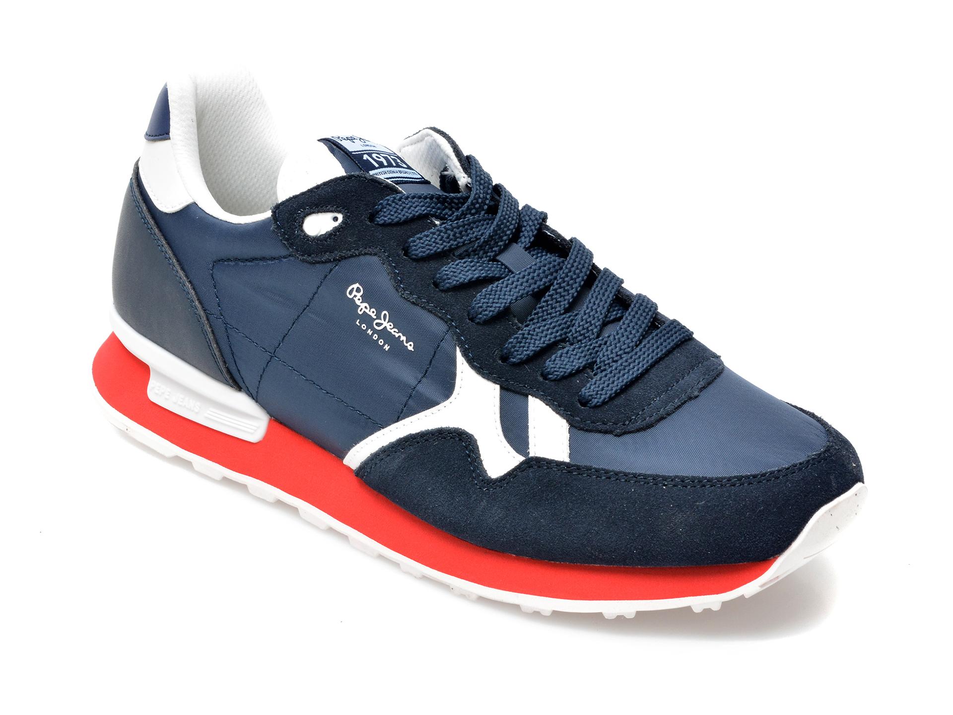 Pantofi sport PEPE JEANS bleumarin, 3072299, din material textil si piele intoarsa imagine otter.ro