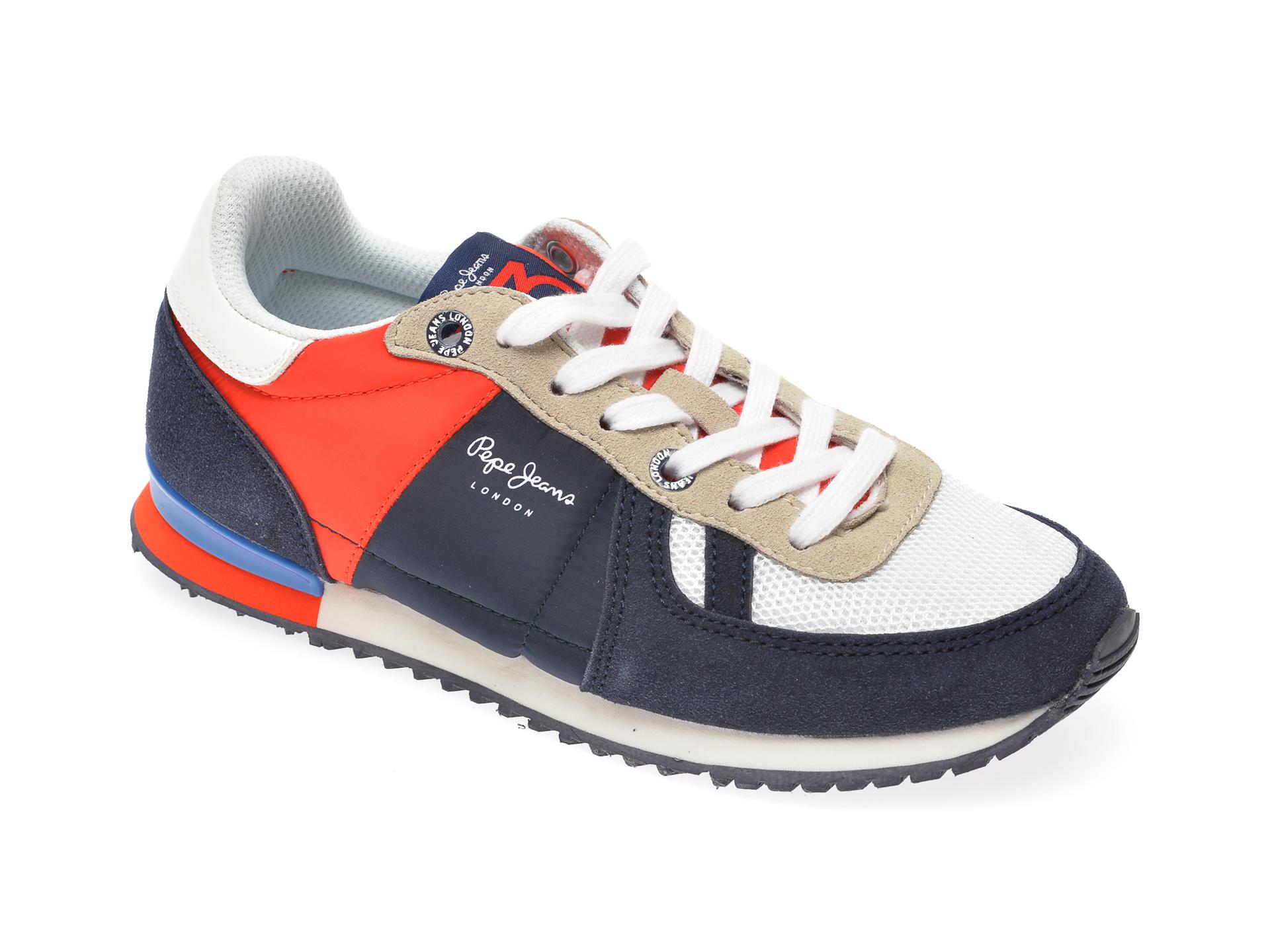 Pantofi sport PEPE JEANS bleumarin, BS30428, din material textil si piele ecologica imagine
