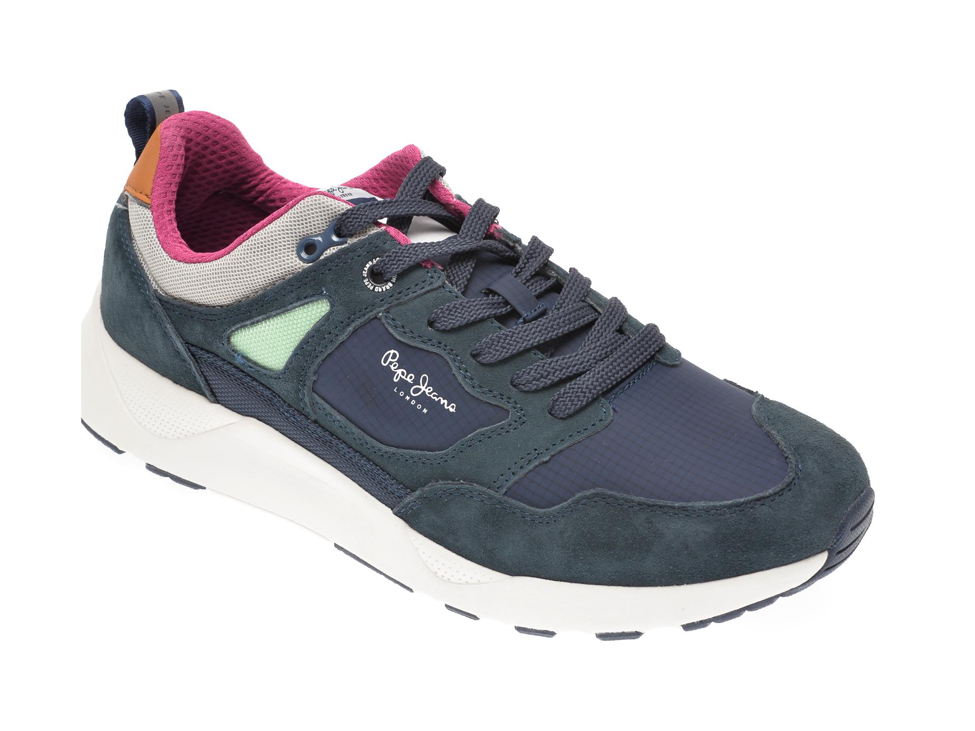 Pantofi sport PEPE JEANS bleumarin, MS30598, din material textil si piele intoarsa imagine