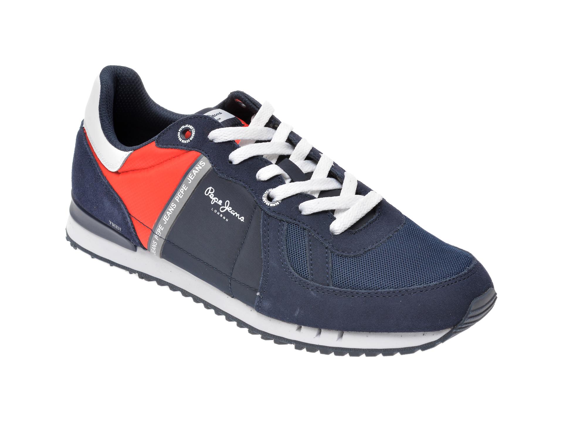 Pantofi sport PEPE JEANS bleumarin, MS30612, din material textil si piele intoarsa imagine