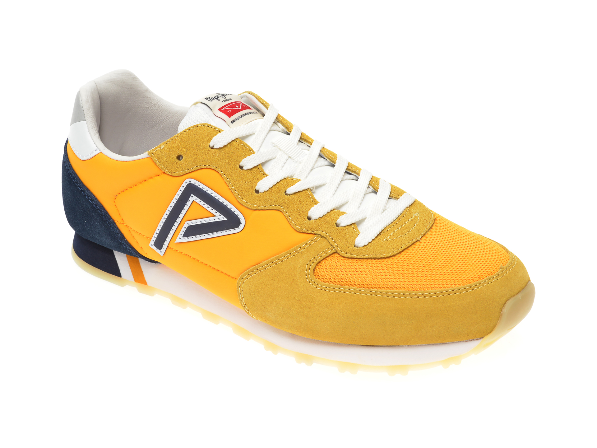 Pantofi sport PEPE JEANS galbeni MS30610, din material textil si piele intoarsa imagine
