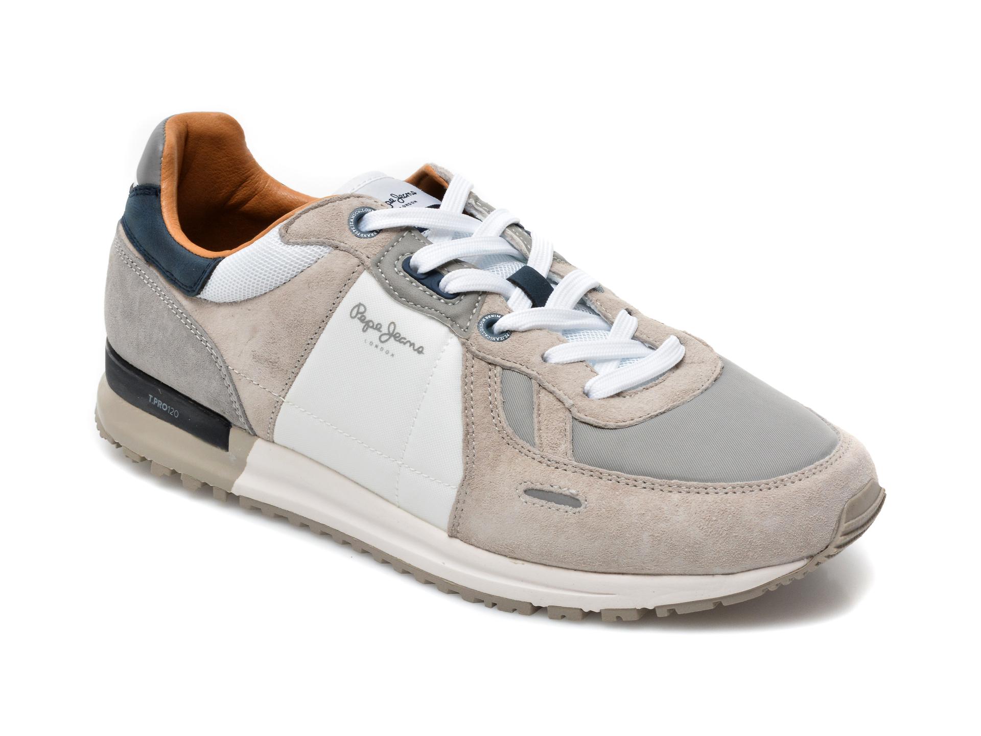 Pantofi sport PEPE JEANS gri, 3073199, din material textil si piele intoarsa imagine otter.ro 2021