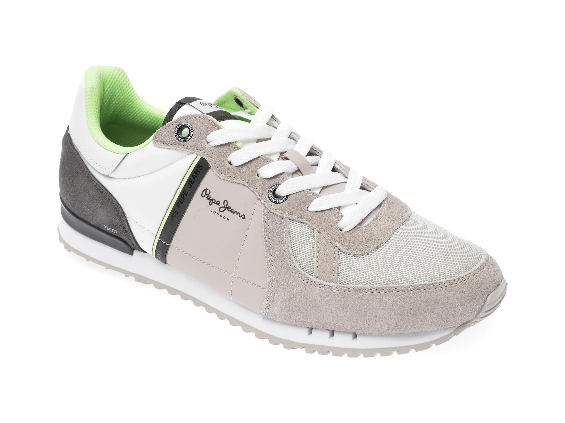 Pantofi sport PEPE JEANS gri, MS30612, din material textil si piele intoarsa imagine