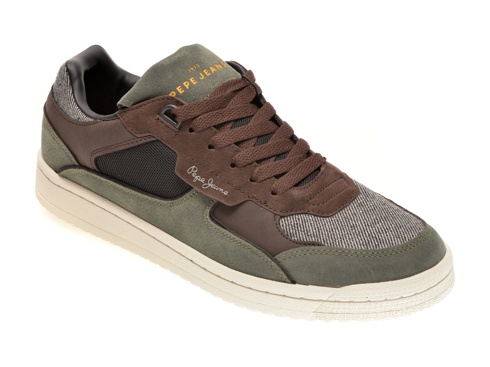 Pantofi sport PEPE JEANS kaki, MS30687, din material textil imagine