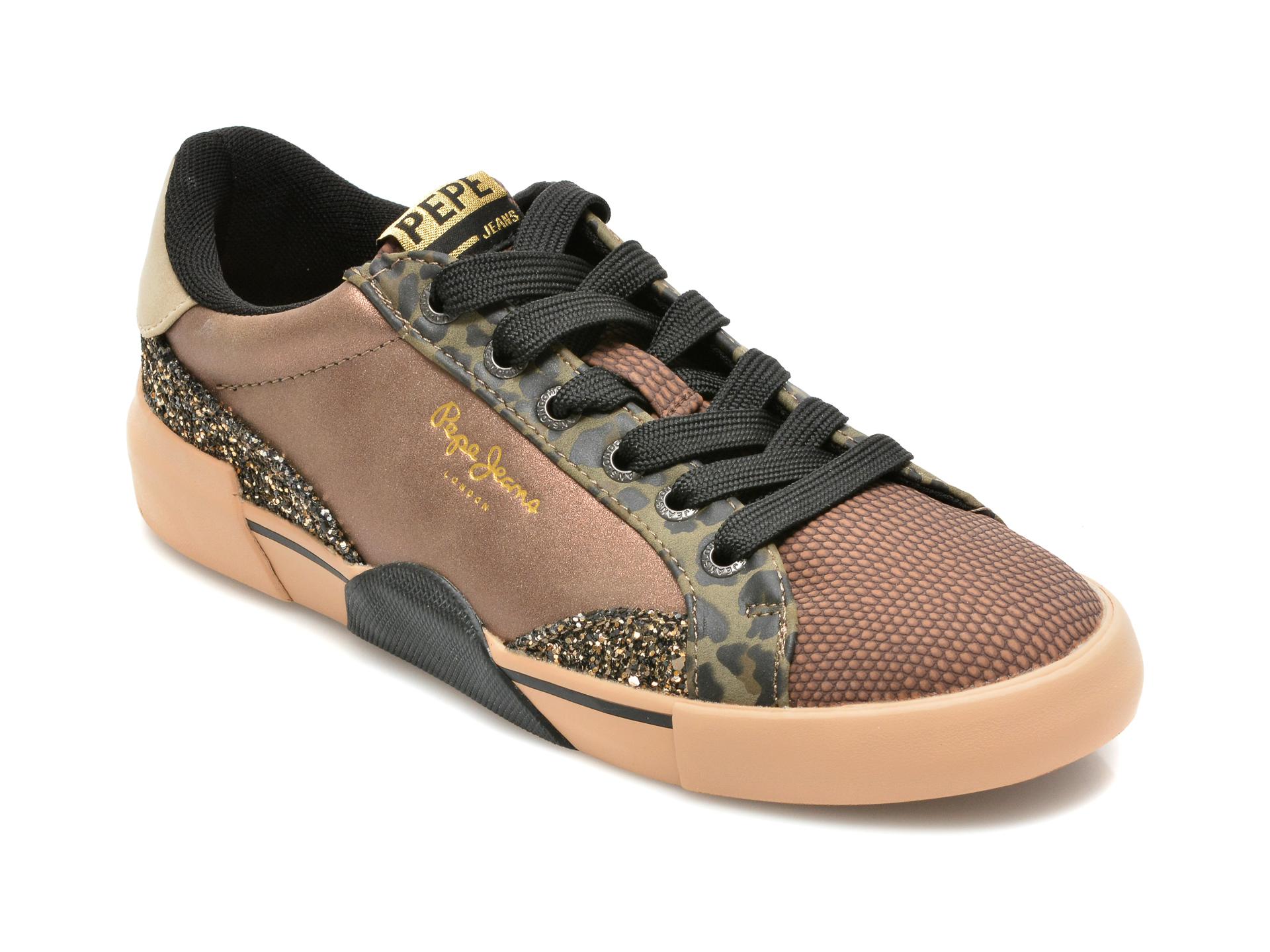 Pantofi sport PEPE JEANS maro, LS31239, din piele ecologica
